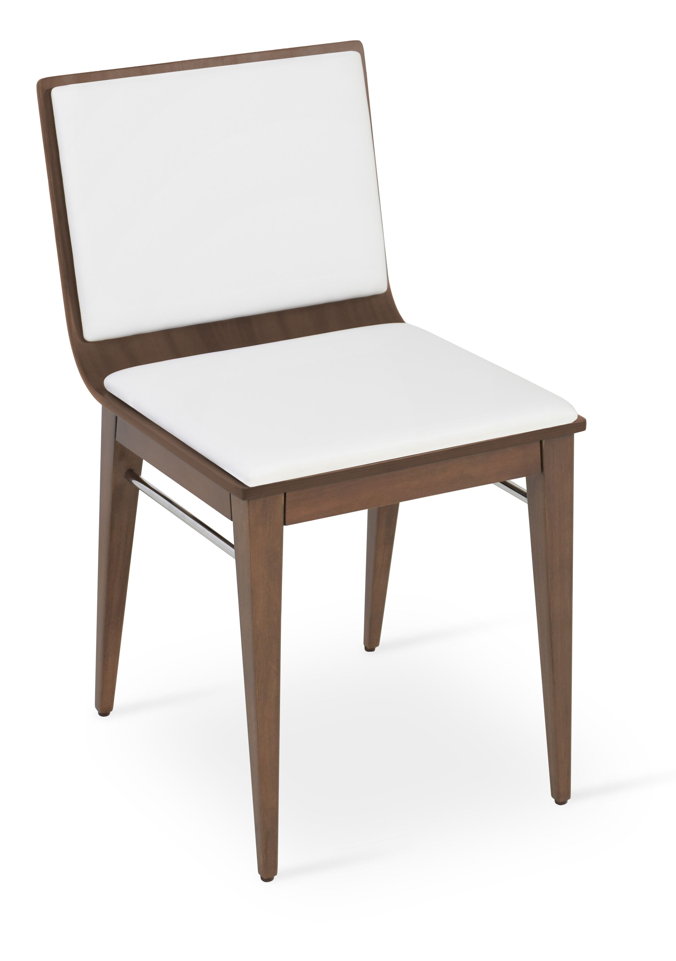 Corona Upholstered Dining Chair Upholstery Color: White/Natural Ash