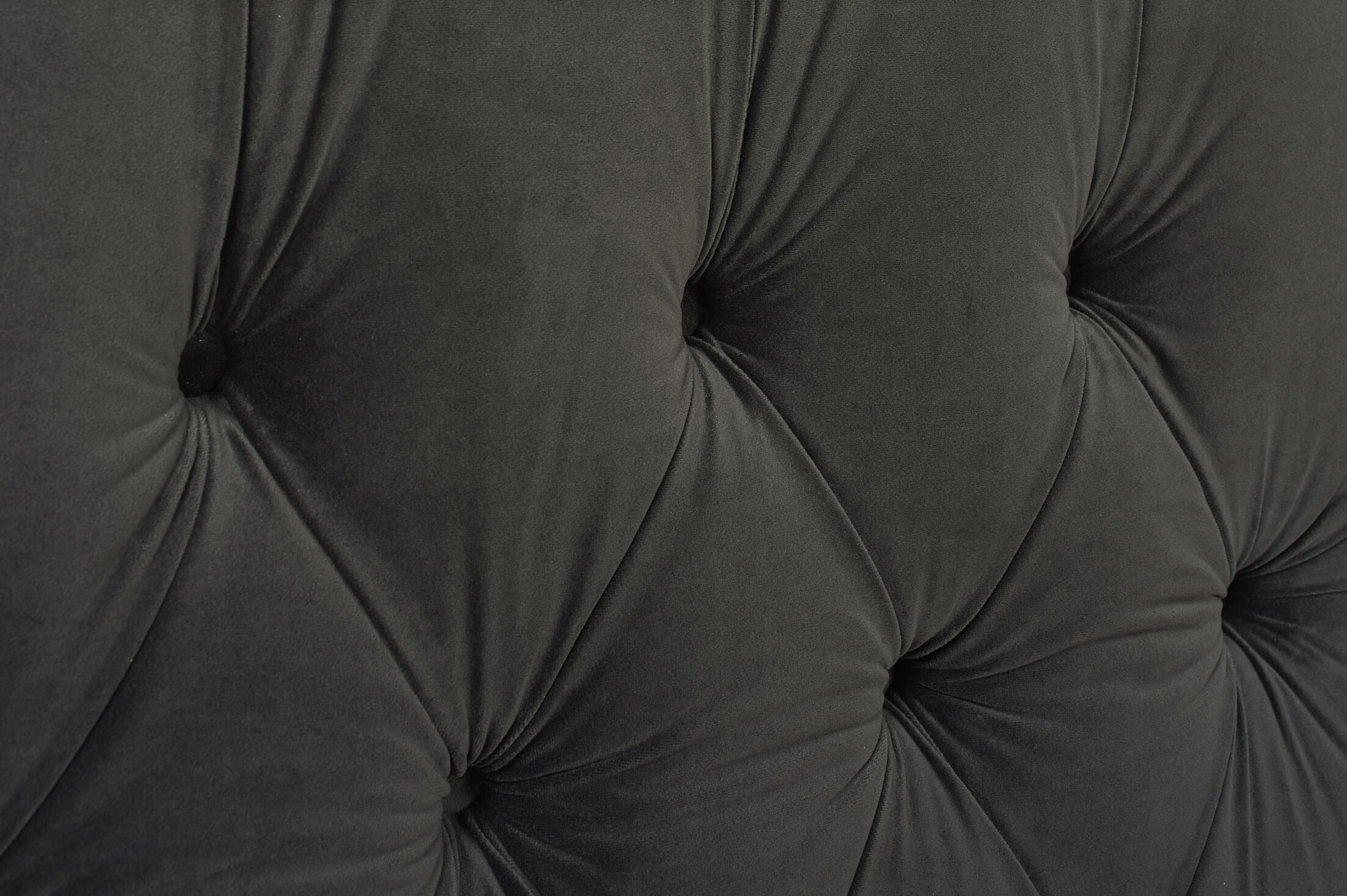 David Tufted Wingback Upholstered Panel Bed Color: Dark Charcoal Grey, Size: Queen