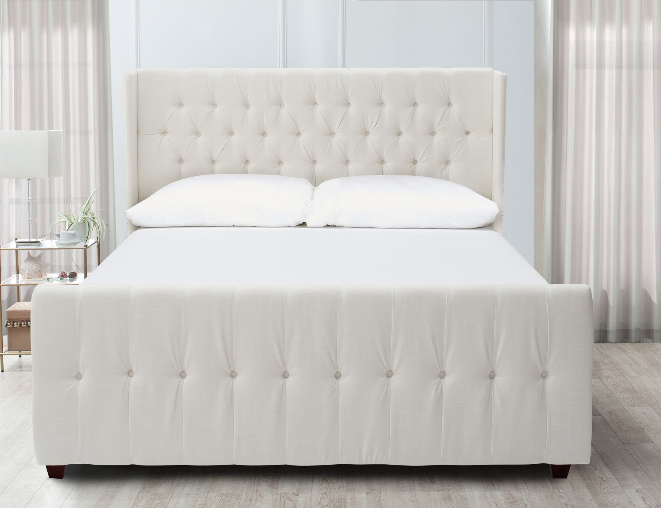 David Upholstered Panel Bed Size: King