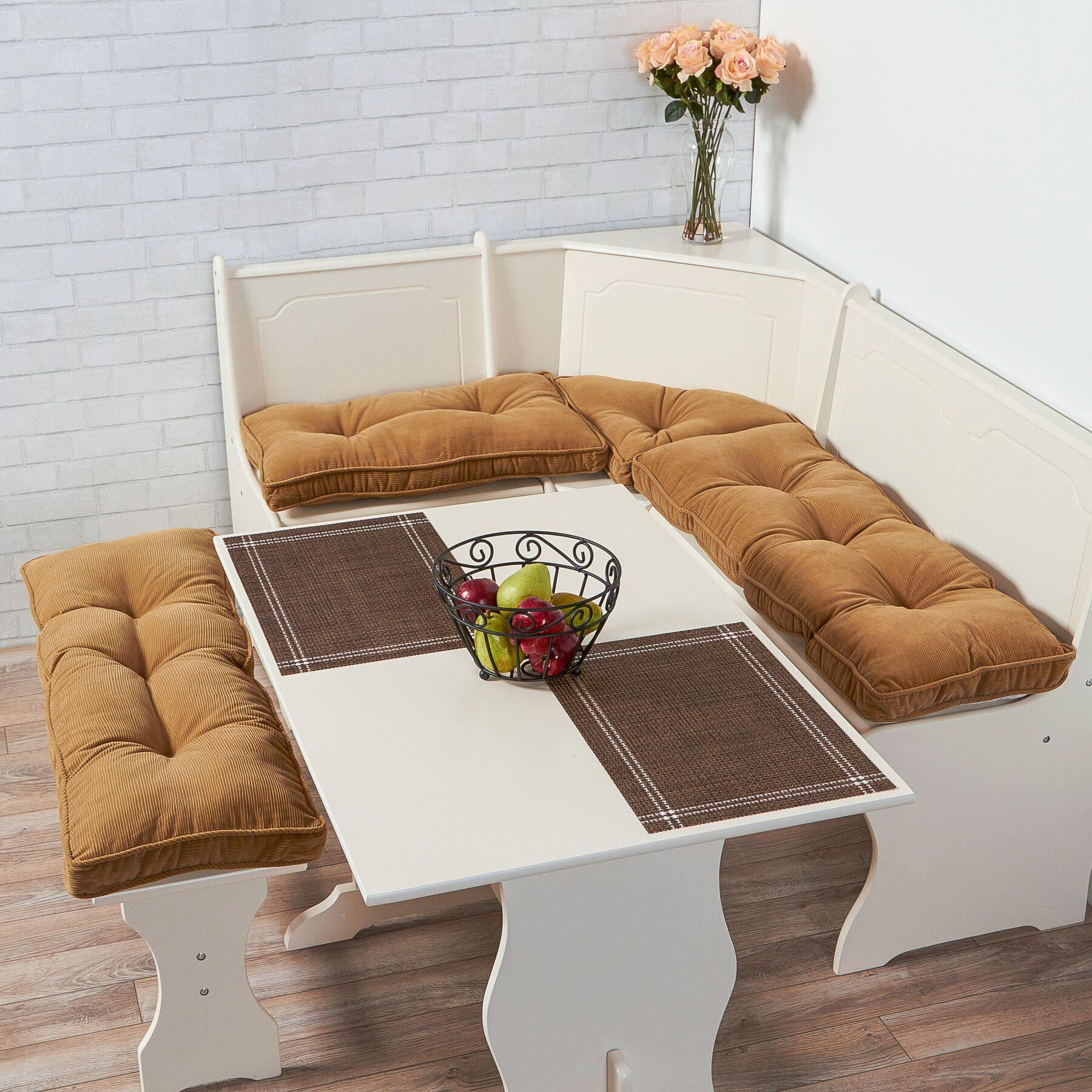 Joie 4 Piece Bench Cushion Set Fabric: Khaki