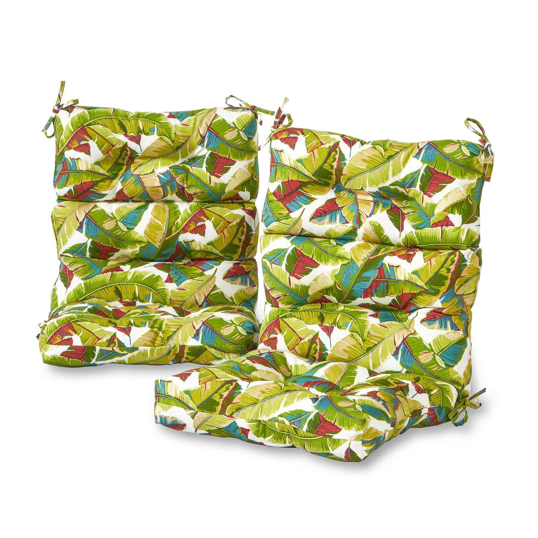 Sundberg Palm Leaves High Back Indoor/Outdoor Lounge Chair Cushion Fabric: Multi