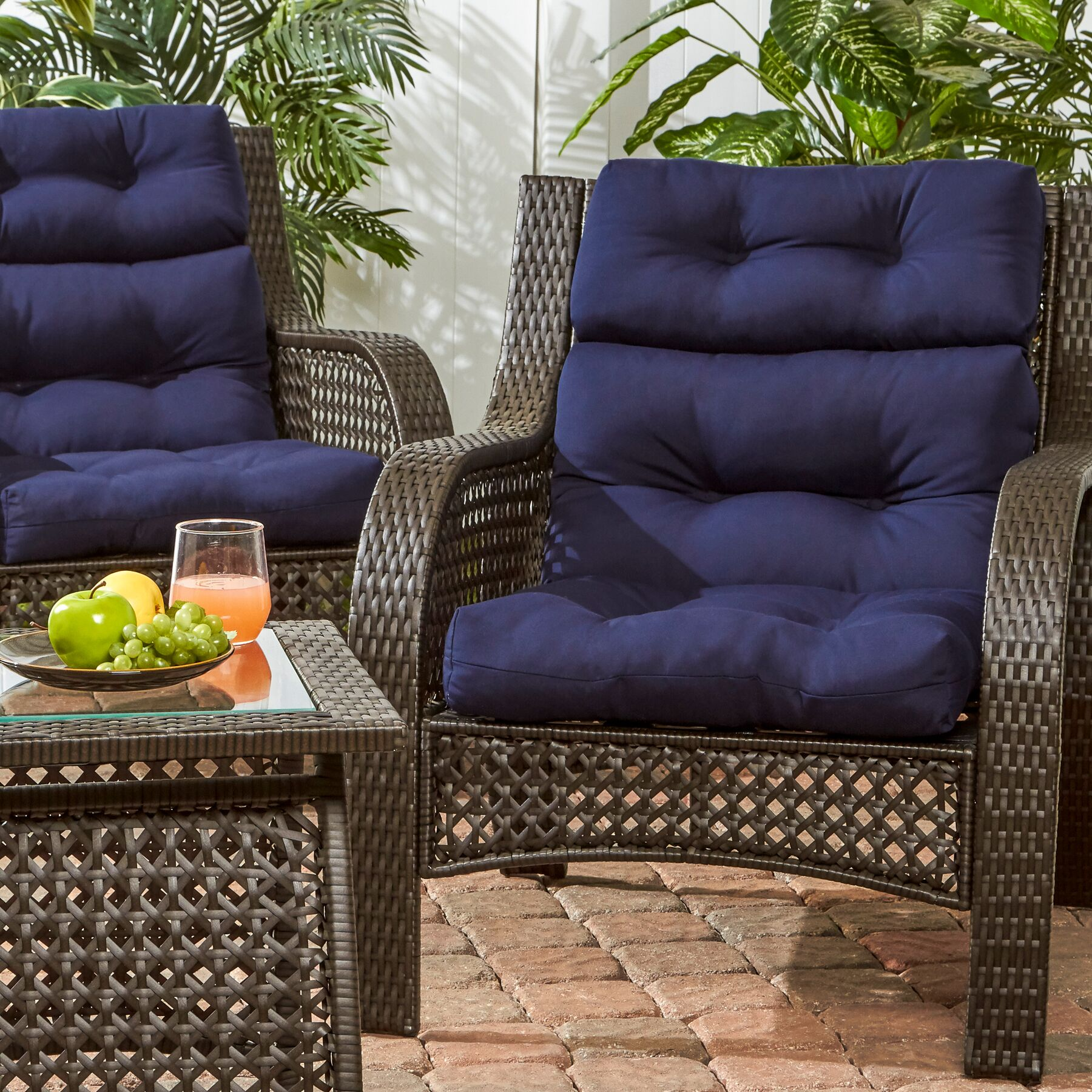Sarver Indoor/Outdoor Lounge Chair Cushion Color: Navy