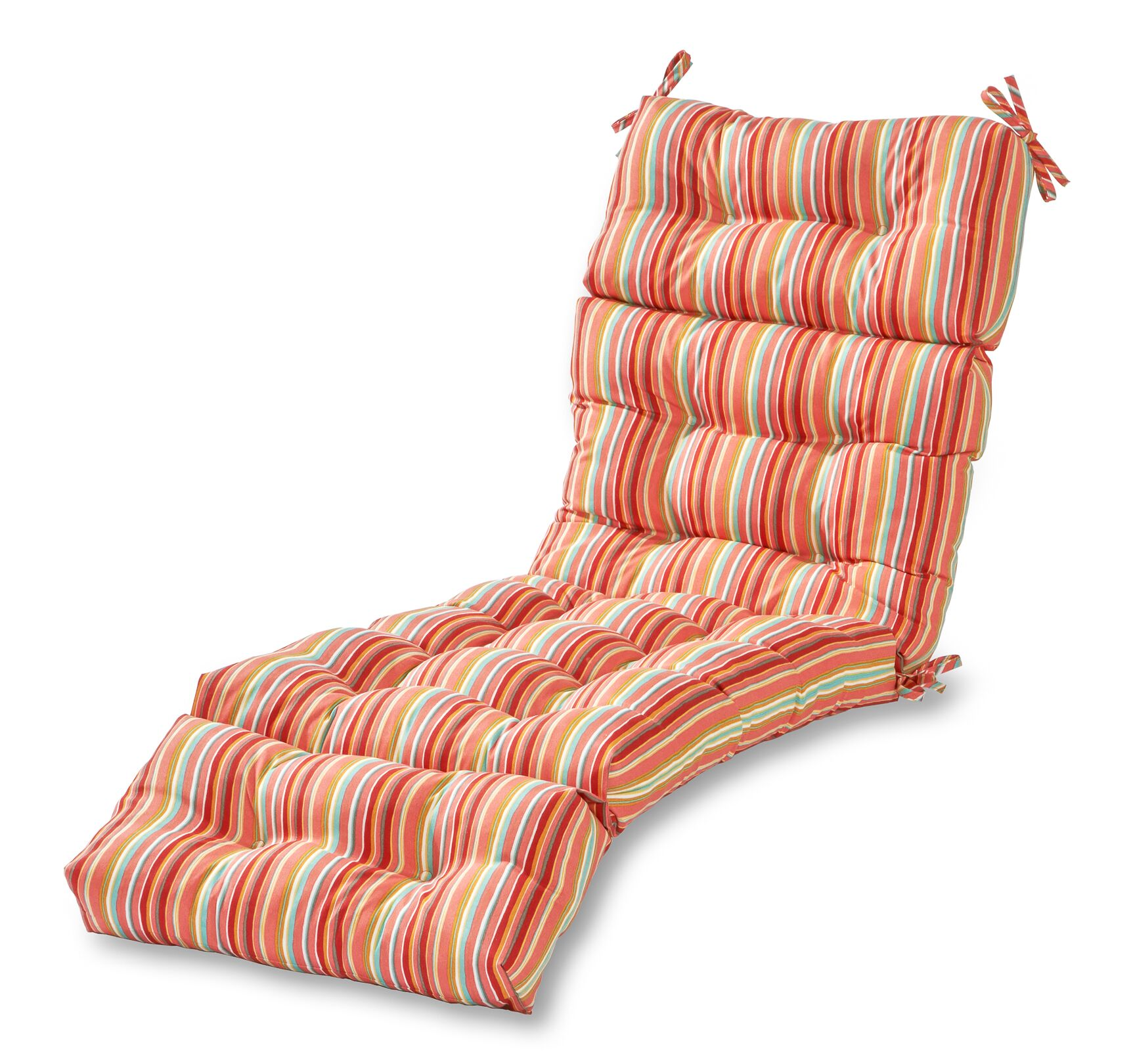 Indoor/Outdoor Chaise Lounge Cushion Fabric: Watermelon