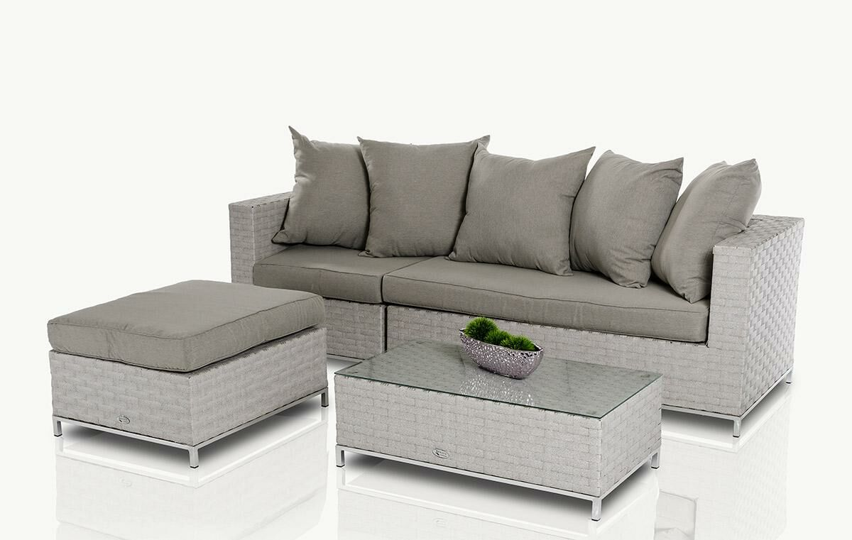 Hornback 3 Piece Sofa Set with Cushions