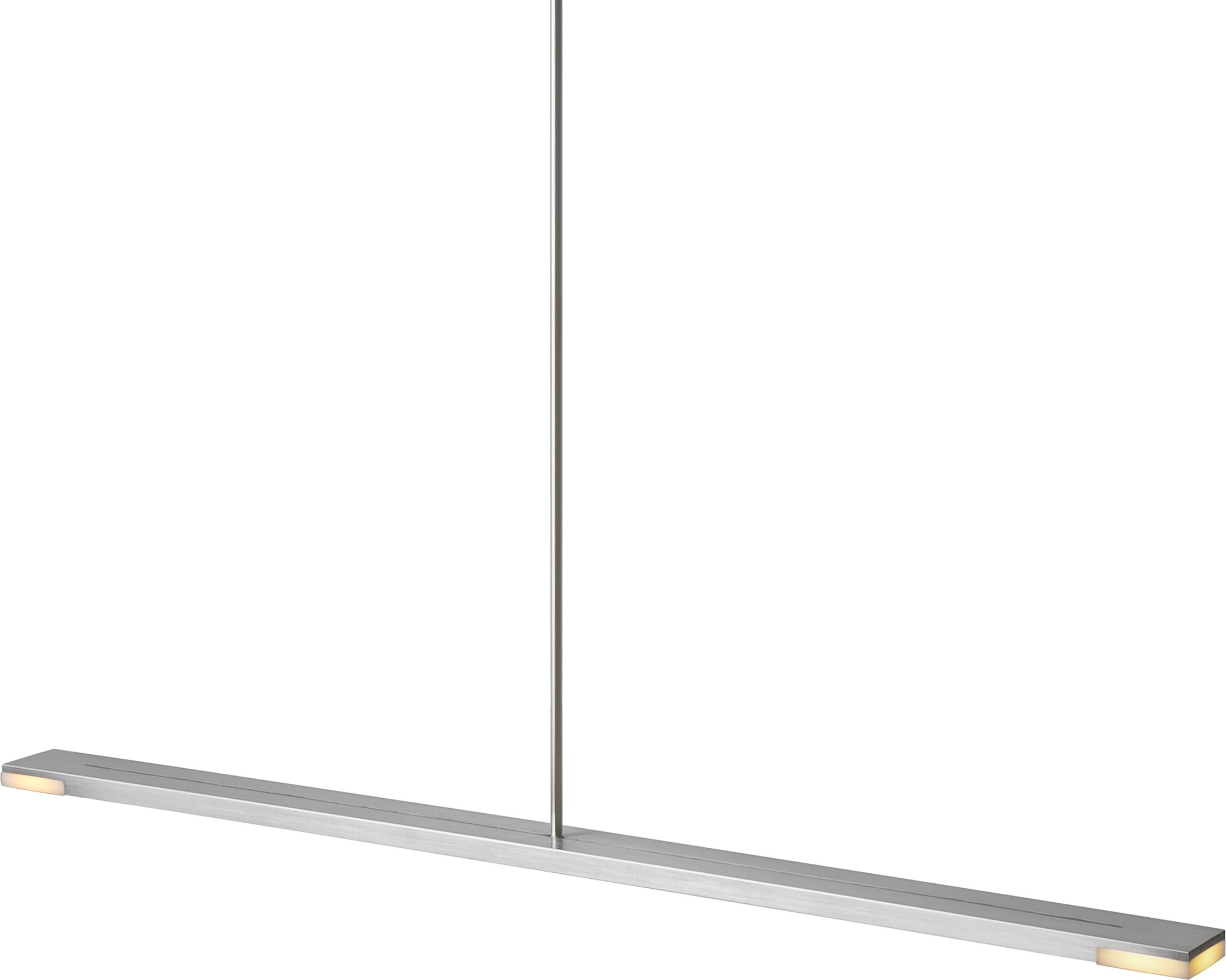 Virga 1-Light Kitchen Island Pendant Metal Finish: Brushed Aluminum