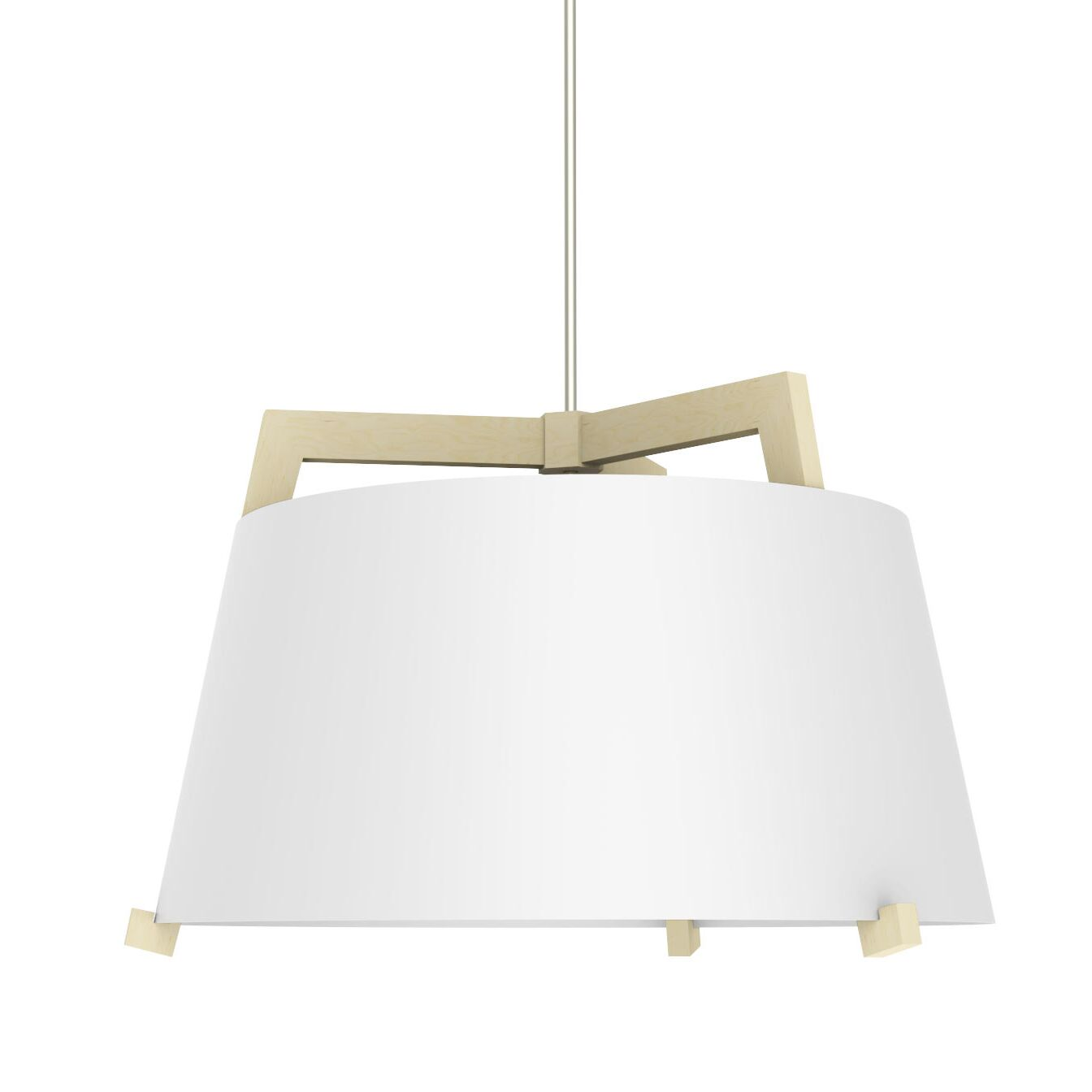 Ignis 3-Light Cone Pendant Finish: Maple/Gloss White