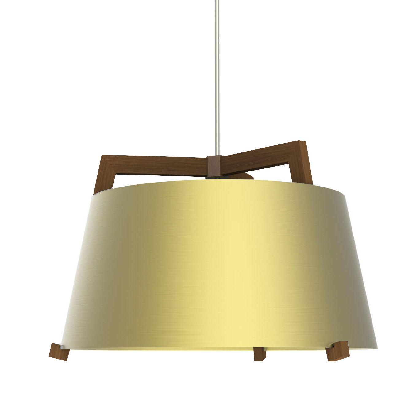 Ignis 1-Light Inverted Pendant Finish: Oiled Walnut/Brushed Brass