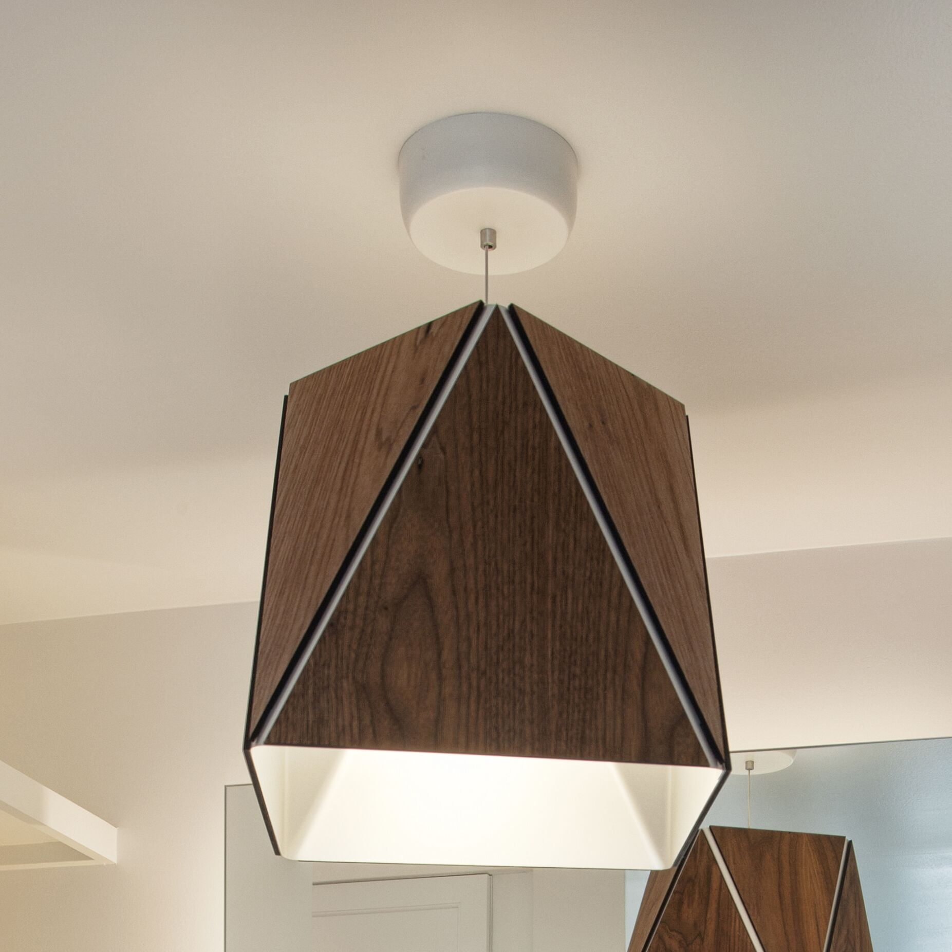 Calx 1-Light  LED  Pendant Finish: Dark Stained Walnut/Brushed Aluminum