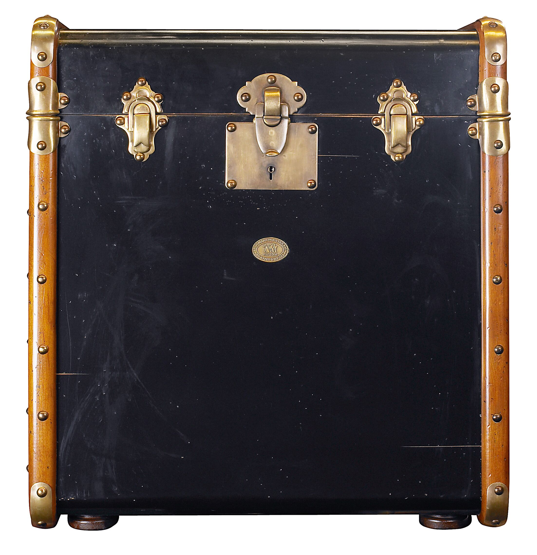 Stateroom End Table Color: Black with Honey