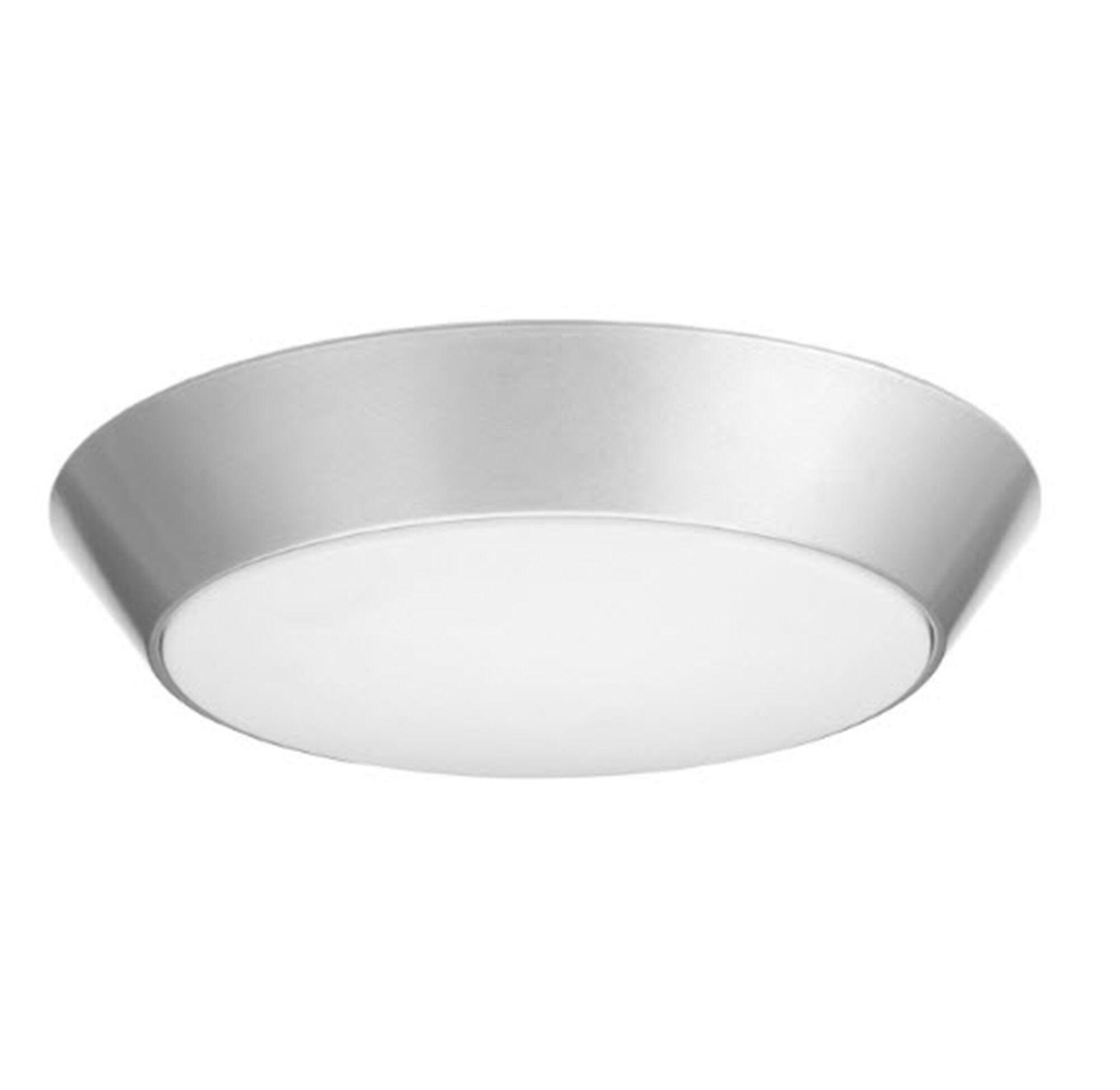 Versi LED Flush Mount Finish: Nickel, Bulb Color Temperature: 4000K
