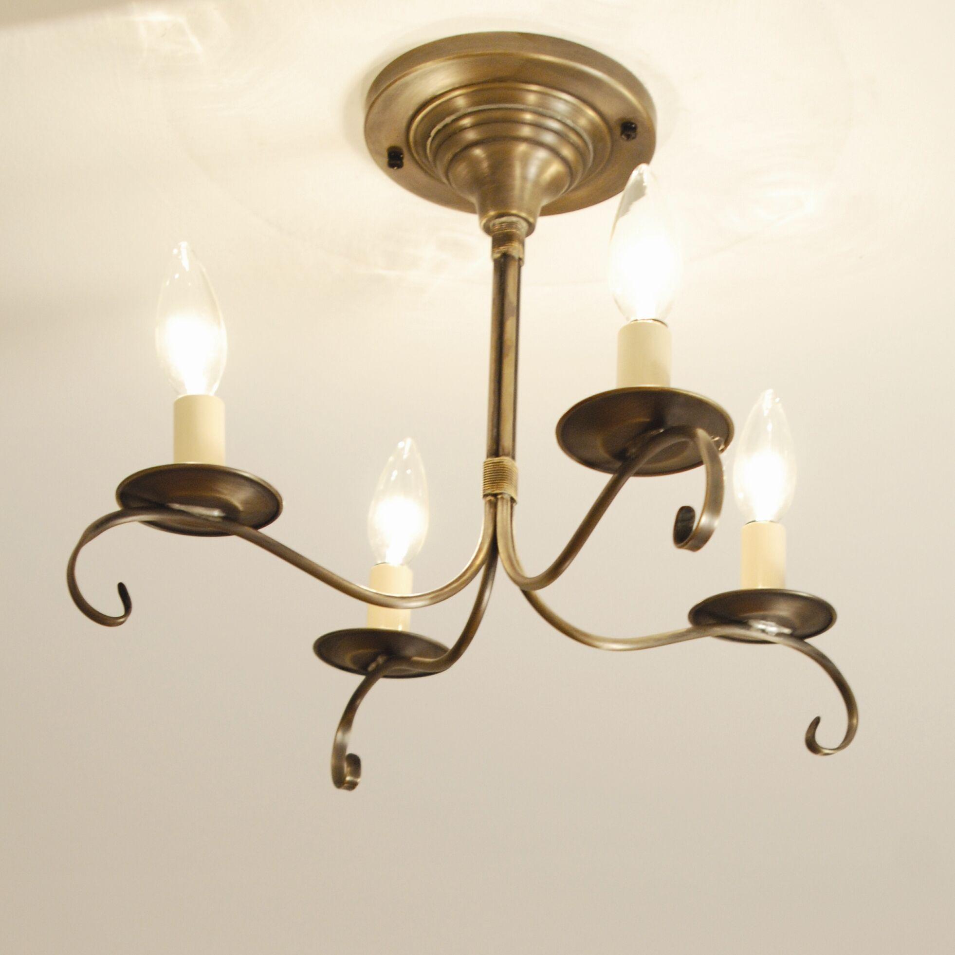 Chandelier 4-Light Candle Style Chandelier Finish: Verdi Gris