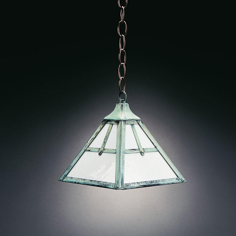 1-Light Dome Pendant Finish: Verdi Gris, Glass Color: Caramel