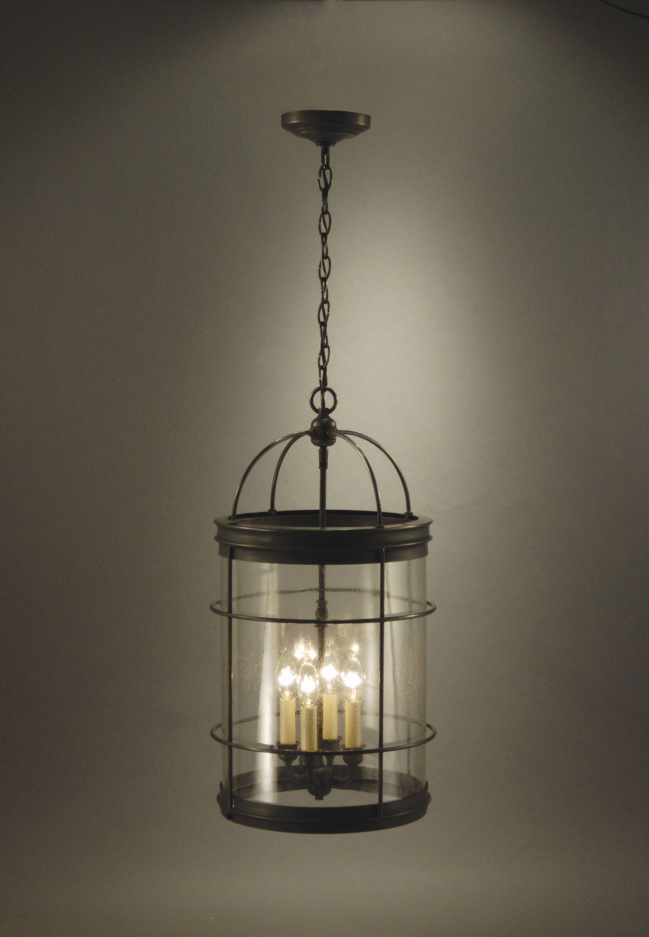 Chandelier 4-Light Foyer Pendant Finish: Verdi Gris, Glass Type: Clear