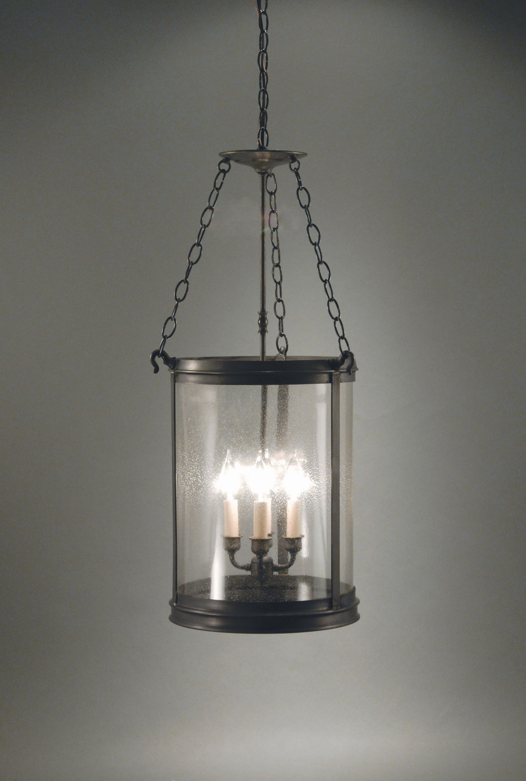 Pendant 4-Light Cylinder Pendant Finish: Dark Brass, Glass Type: Clear