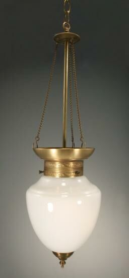 Vintage 1-Light Urn Pendant Finish: Verdi Gris