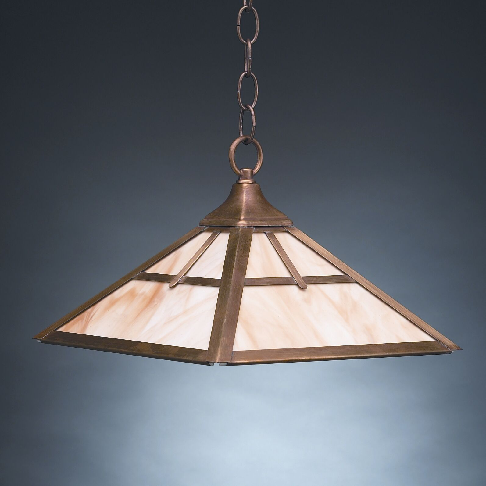 1-Light Dome Pendant Finish: Antique Brass, Glass Color: Caramel