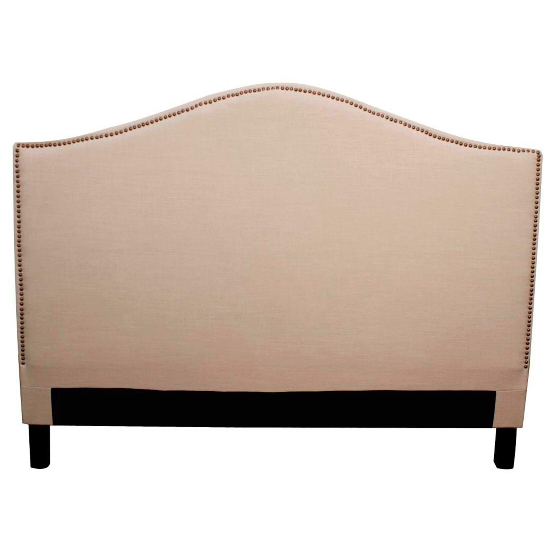 Lehn Upholstered Panel Headboard Upholstery: Khaki, Size: King