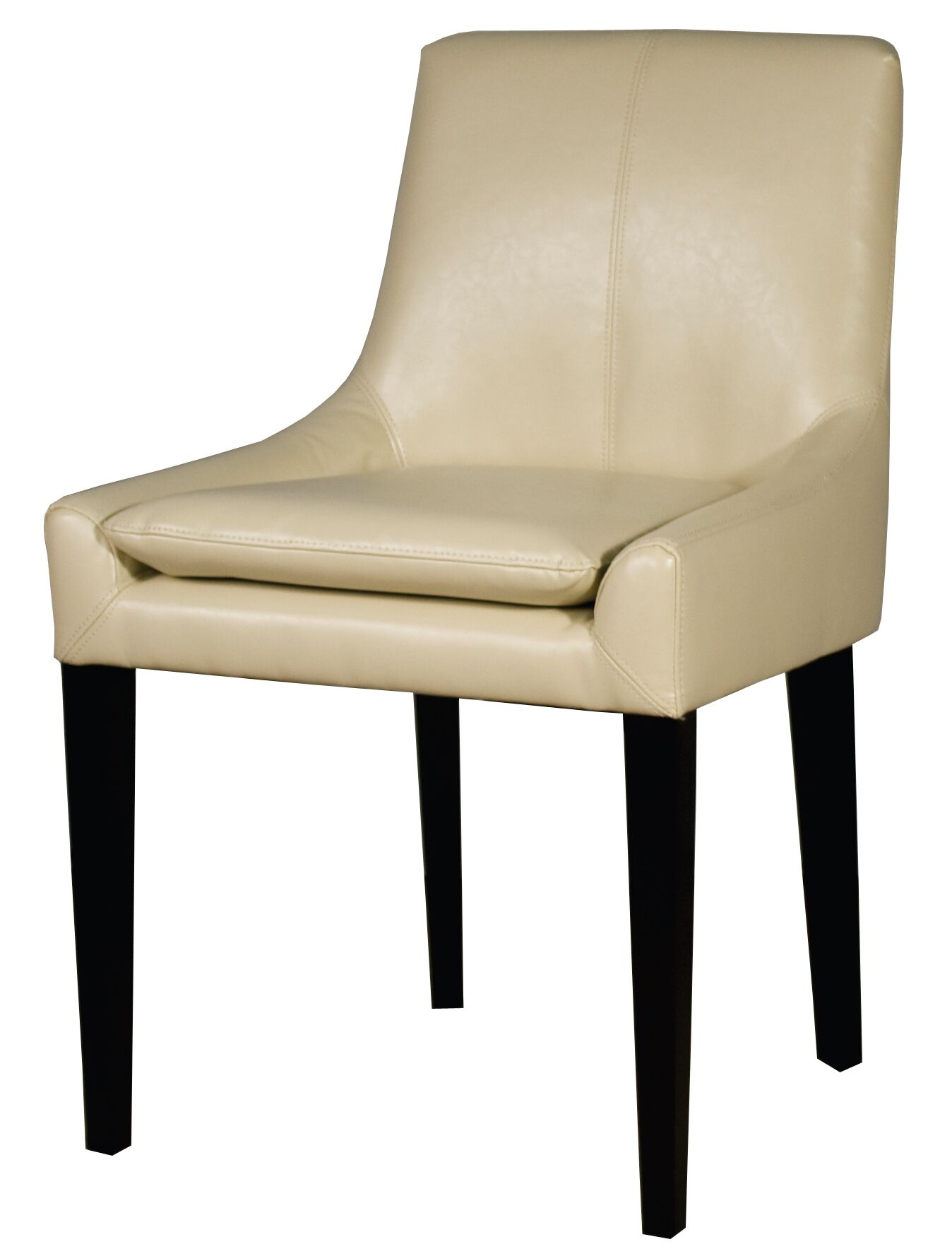 Chase Bonded Leather Upholstered Dining Chair Color: Ivory