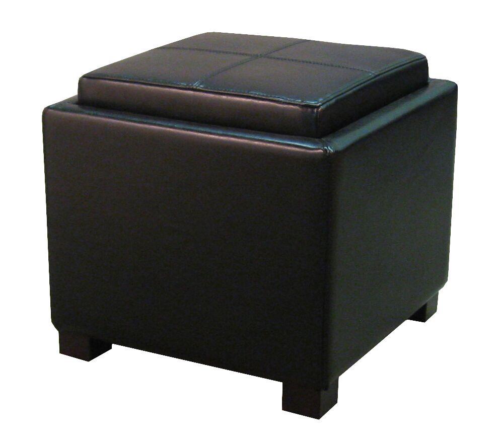 Hagler Storage Ottoman Upholstery: Black