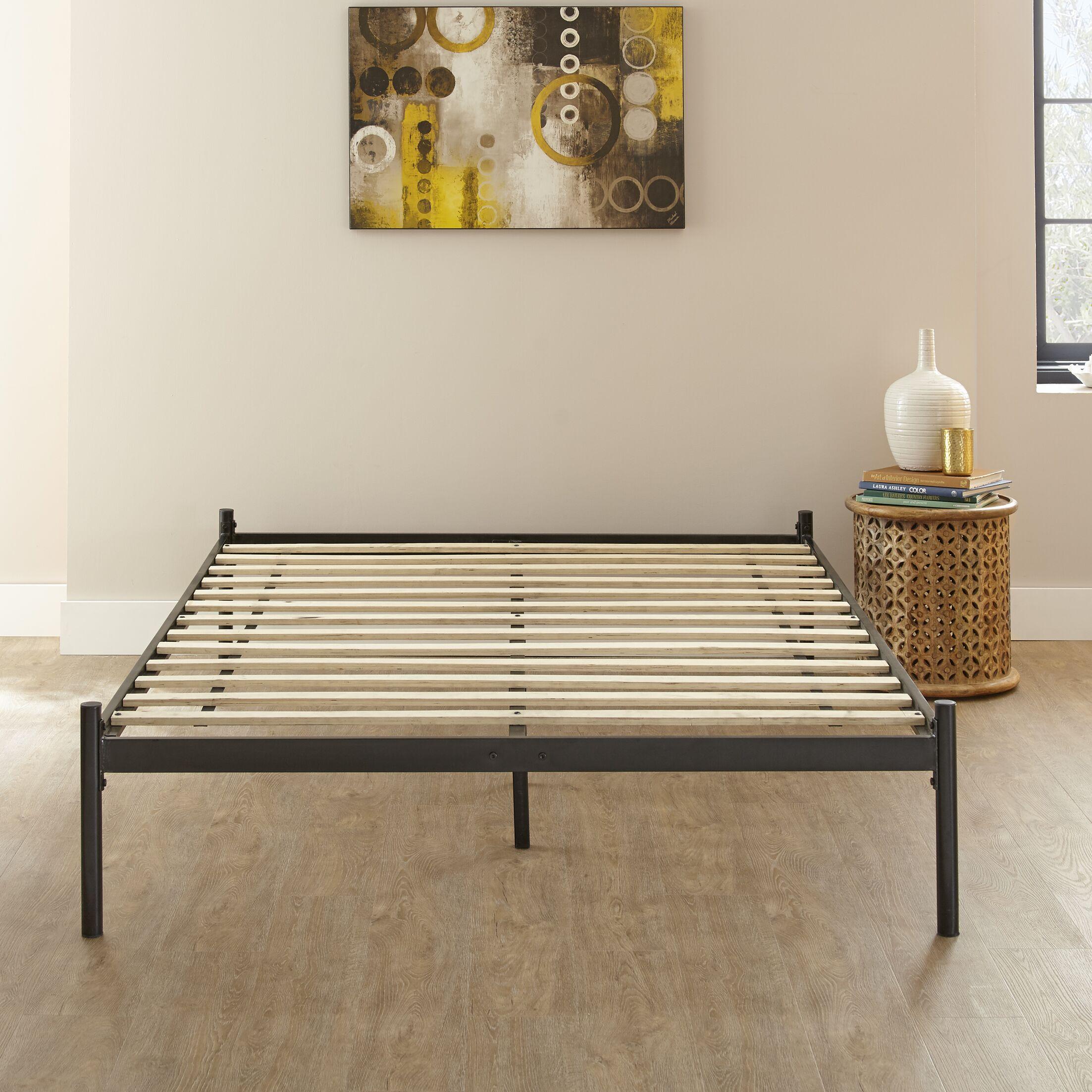 Barra Metal Platform Bed Color: Black, Size: King