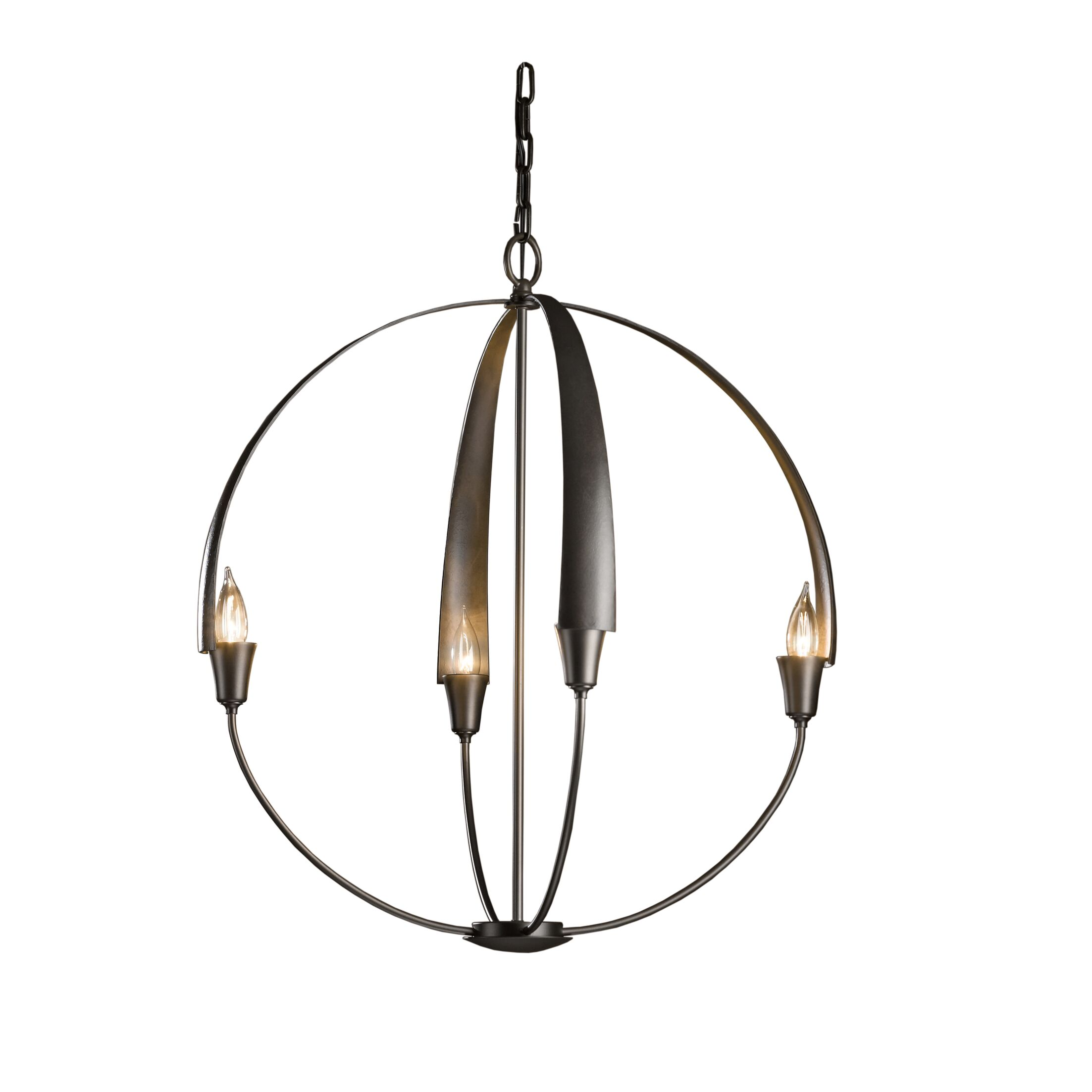 Cirque 4-Light Pendant Size: Large, Finish: Natural Iron
