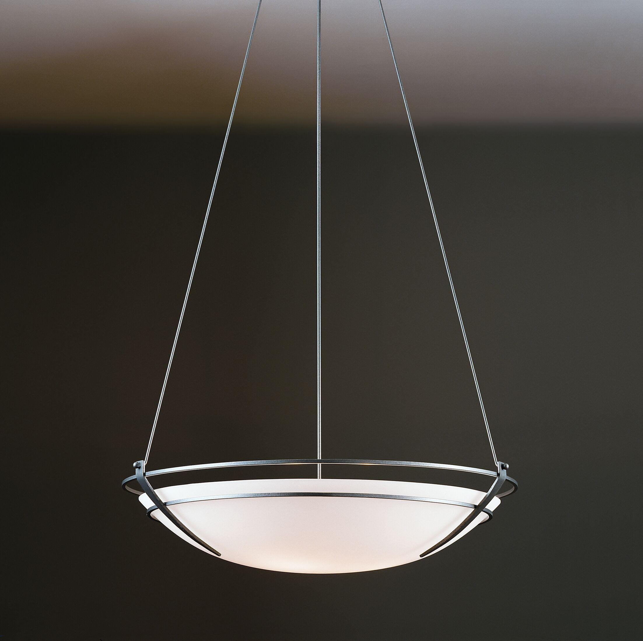 Presidio 6-Light Bowl Pendant Finish: Brushed Steel, Shade Color: Sand