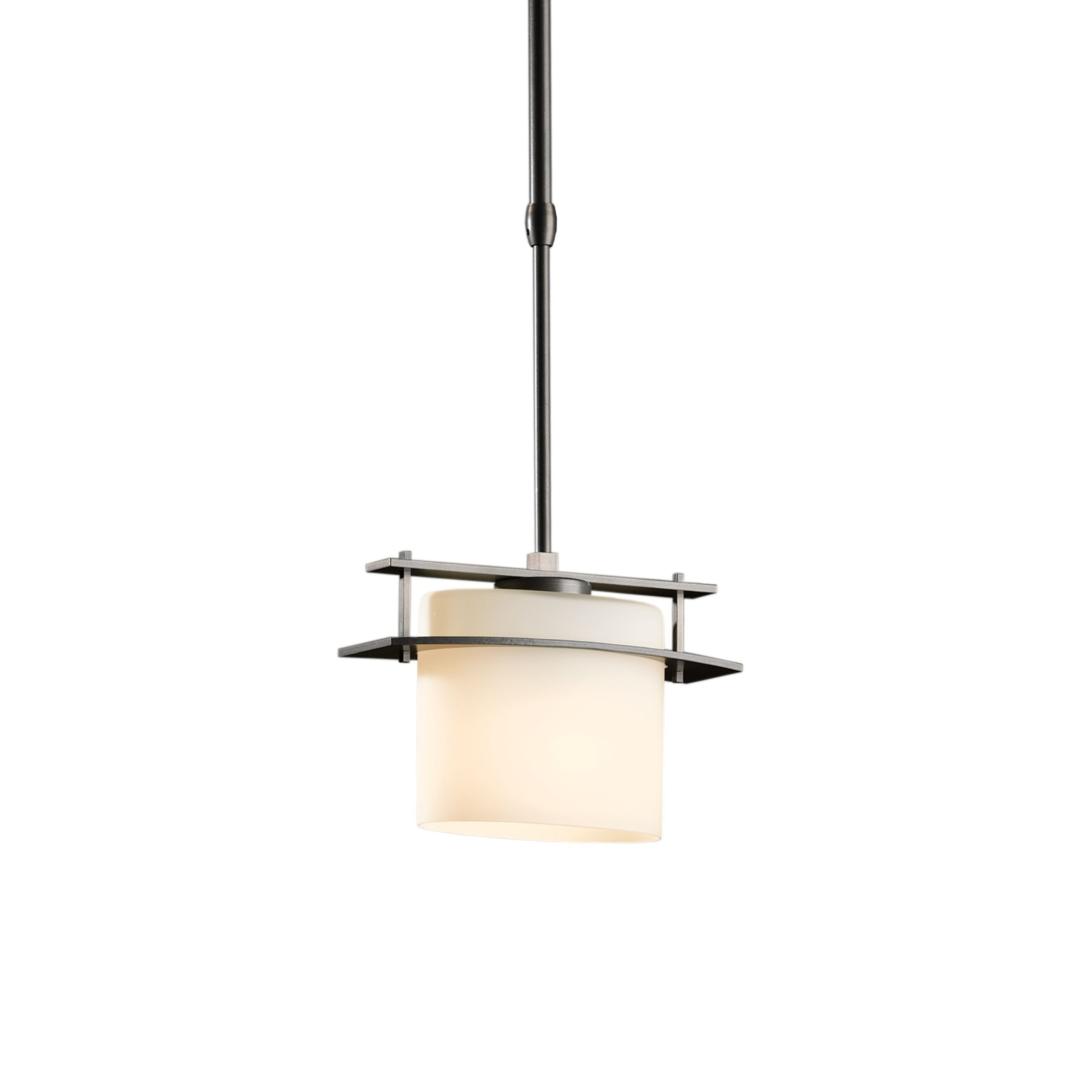 Ellipse 1-Light Pendant Glass: Stone, Finish: Opaque Black