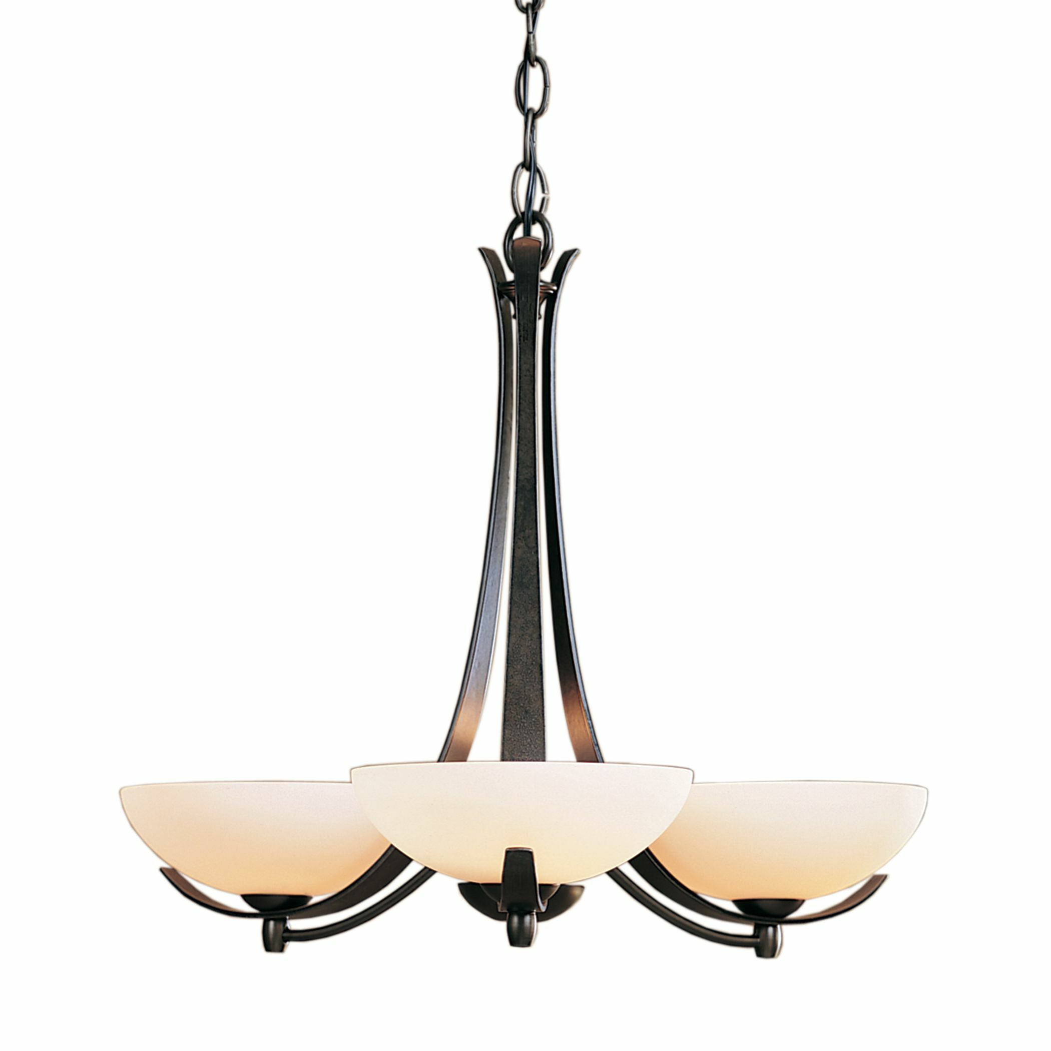 Aegis 3-Light Shaded Chandelier Finish: Dark Smoke, Shade Color: Pearl