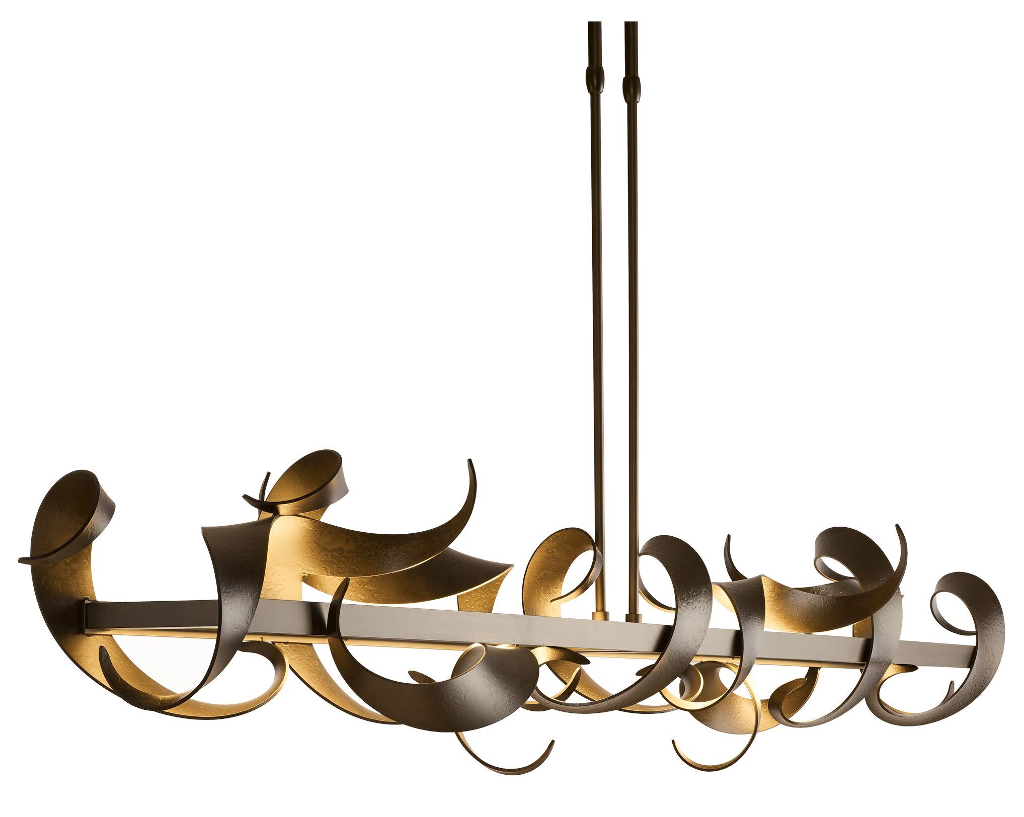 Folio LED Novelty Pendant Size: Medium, Finish: Bronze