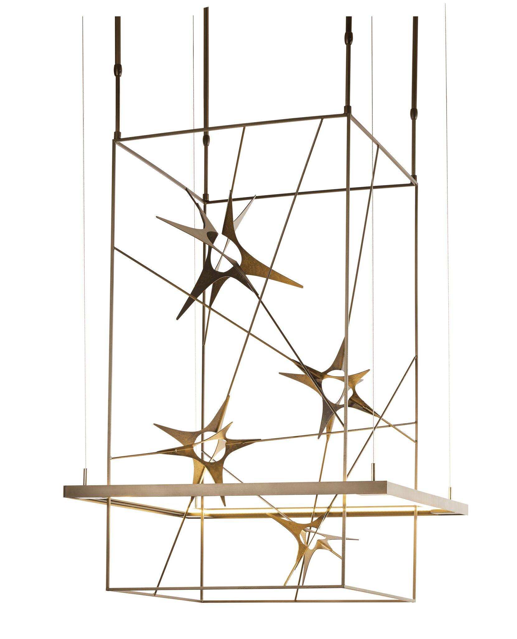 Kairos LED Square/Rectangle Pendant Size: Large, Finish: Natural Iron