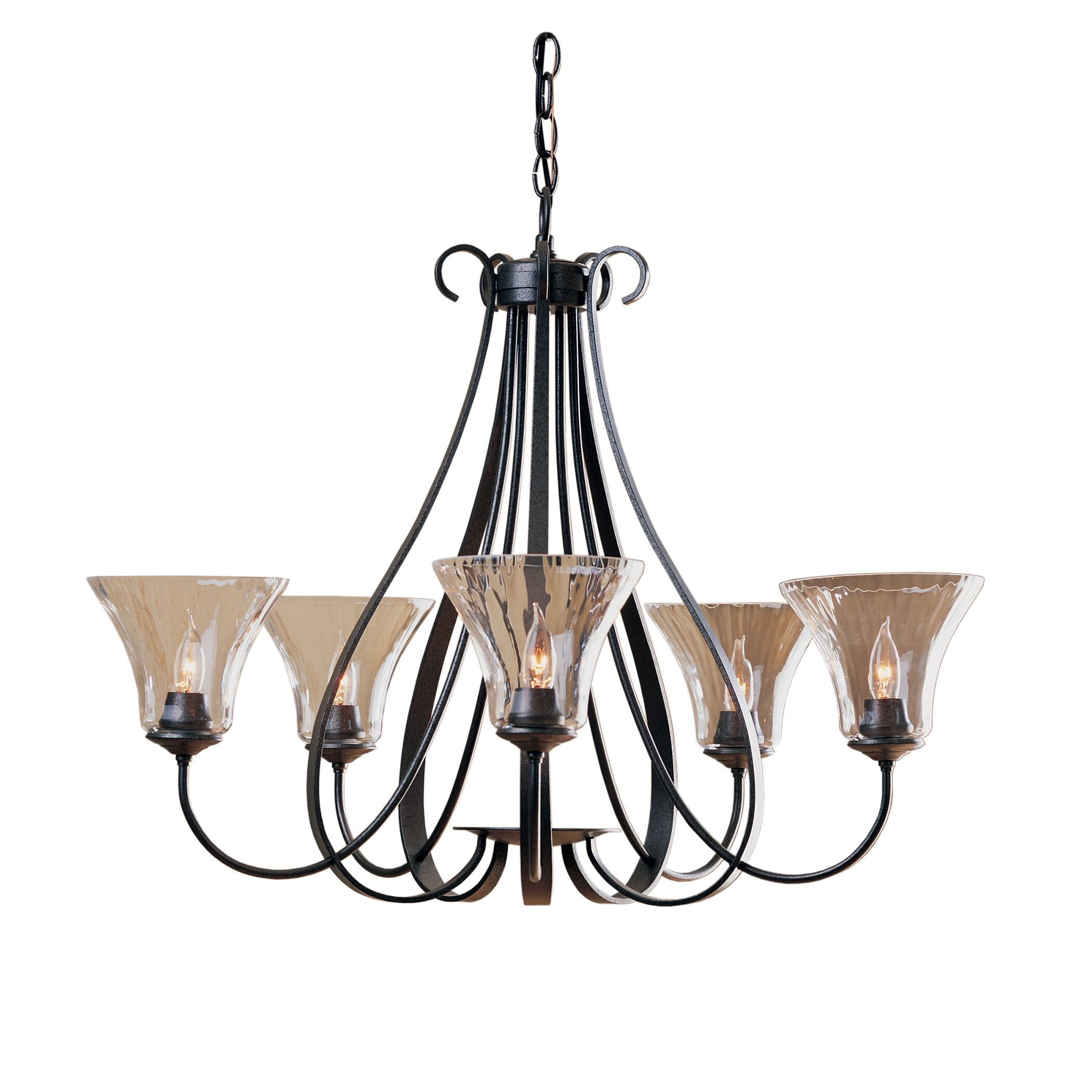 5-Light Shaded Chandelier Finish: Natural lron