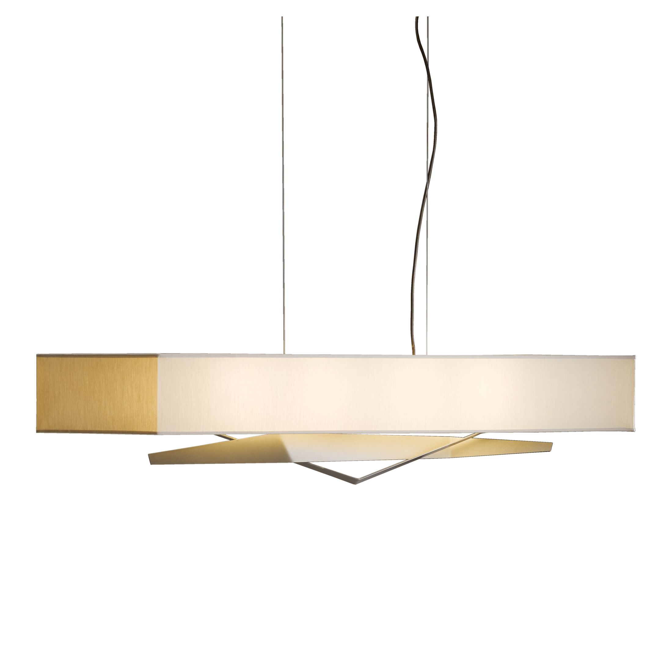 Facet 4-Light Kitchen Island Pendant Shade: Natural Anna, Finish: Translucent Dark Smoke