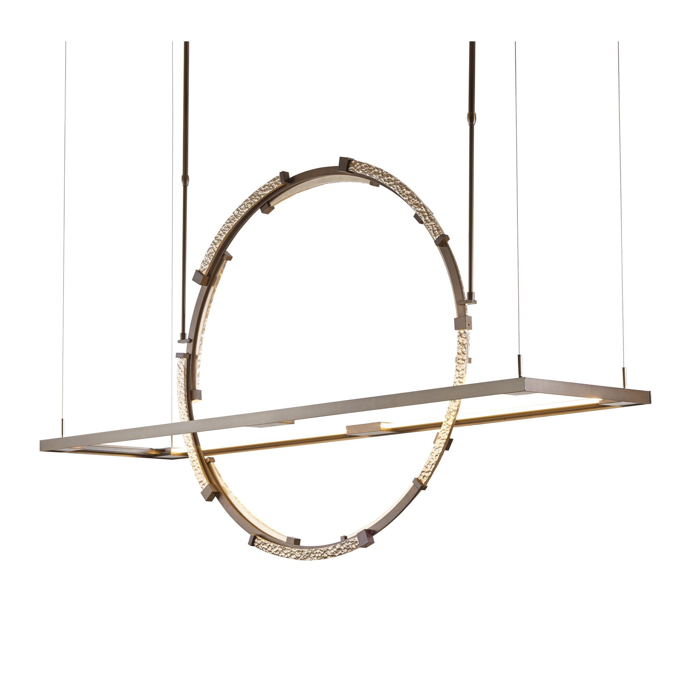 Theta  LED  Pendant Finish: Bronze/Soft Gold