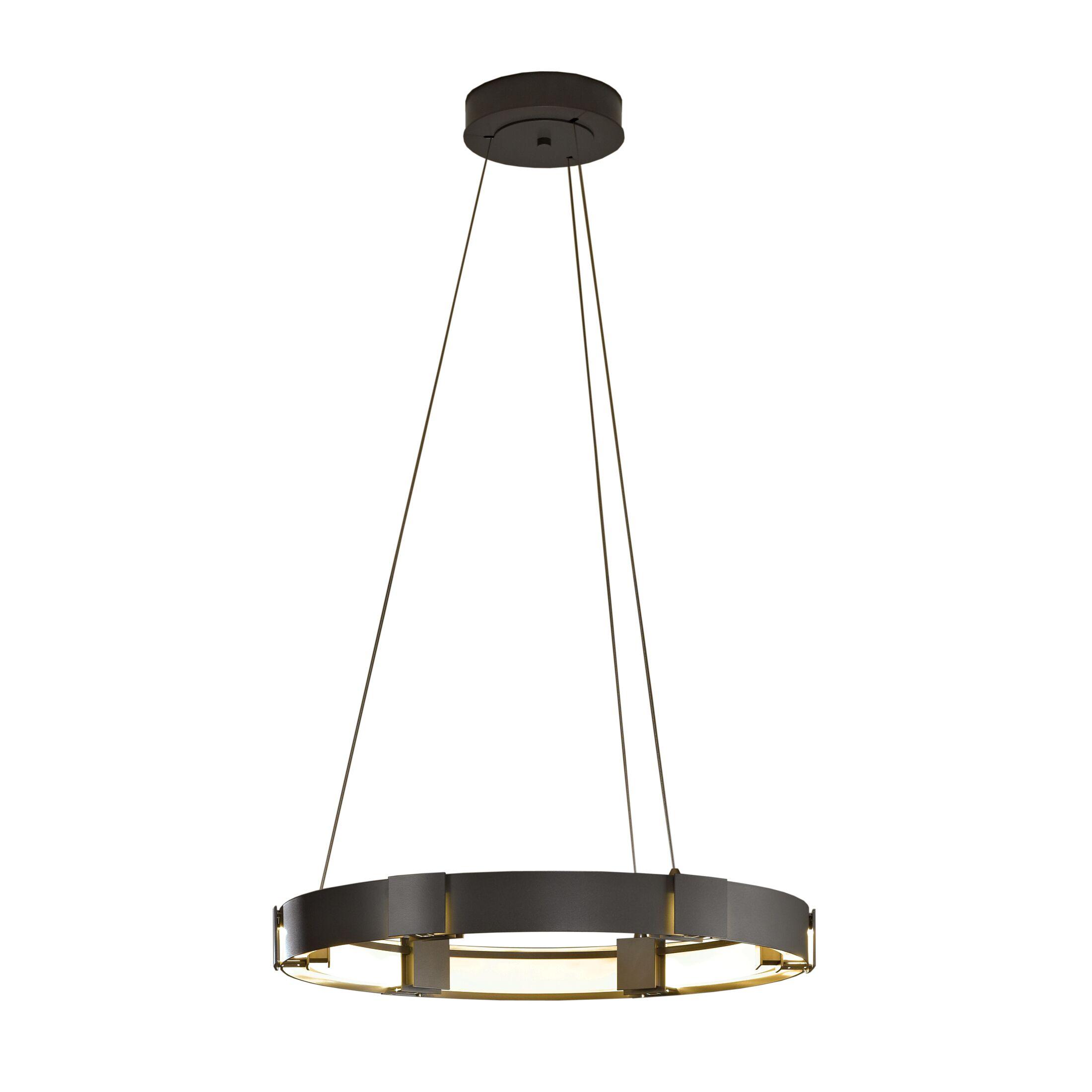 Aura 1-Light  LED Geometric Pendant Finish: Burnished Steel