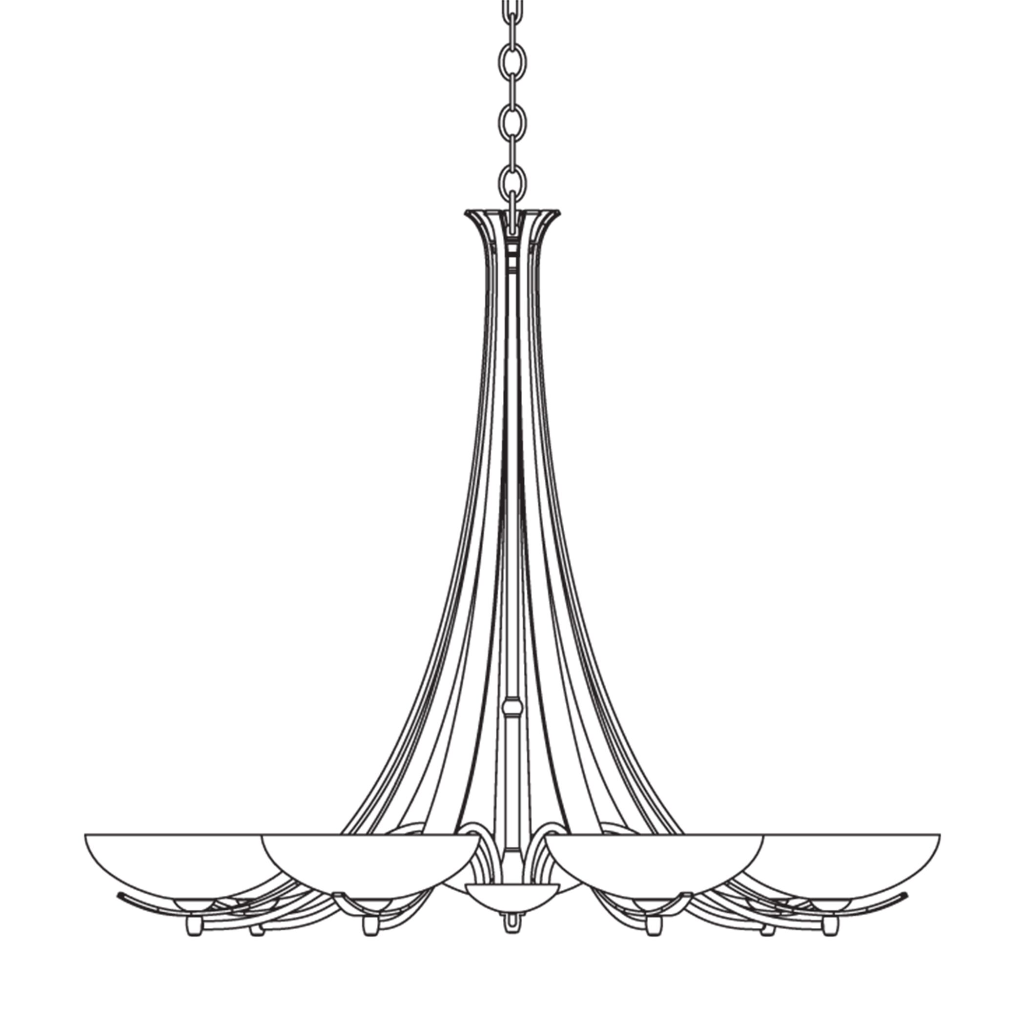 7-Light Shaded Chandelier Finish: Bronze, Shade Color: Pearl