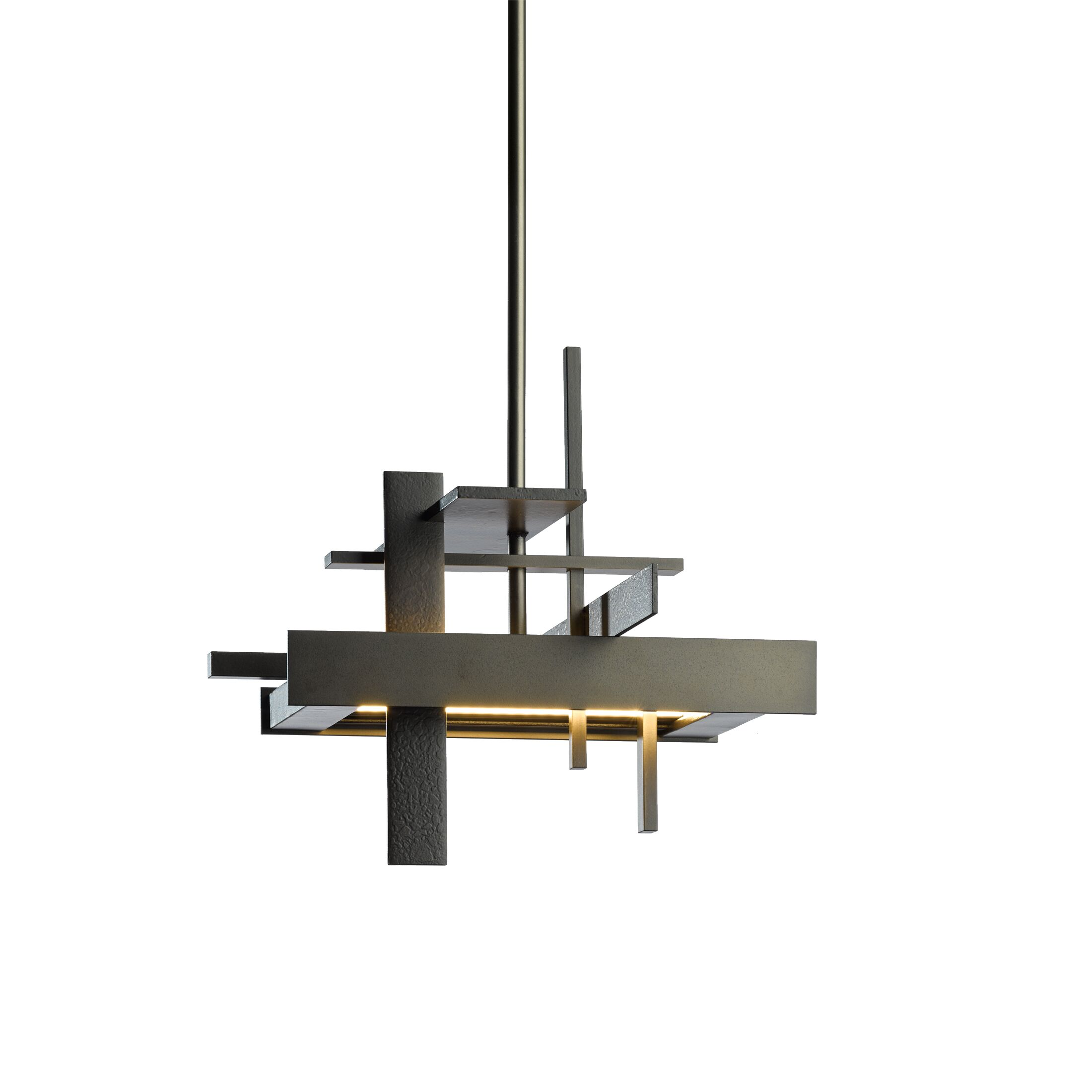 Planar 1-Light  LED  Pendant Size: Long, Finish: Bronze