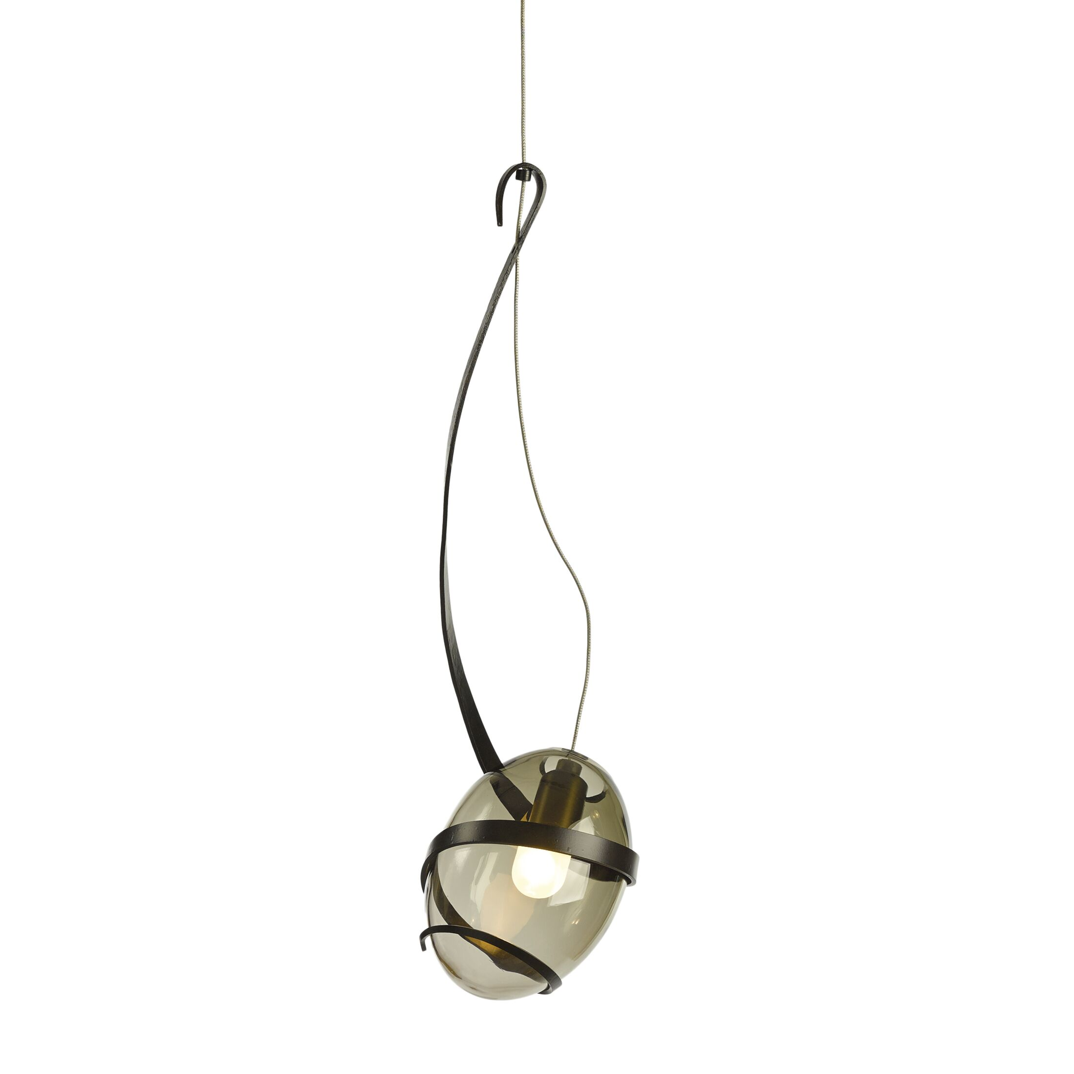 Pinot 1-Light Globe Pendant Shade Color: Green Tea, Finish: Black