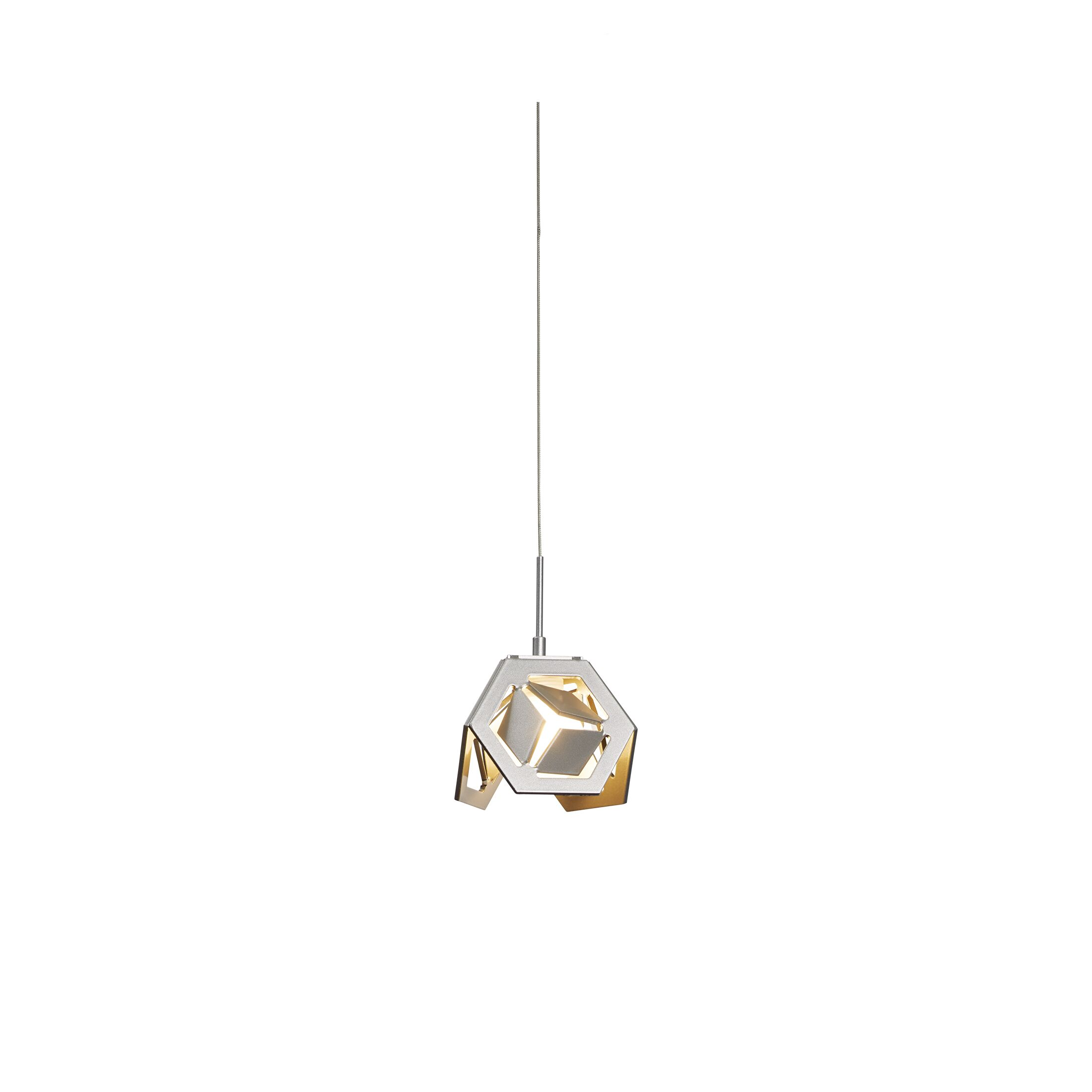 Winter 1-Light Geometric Pendant Finish: Black