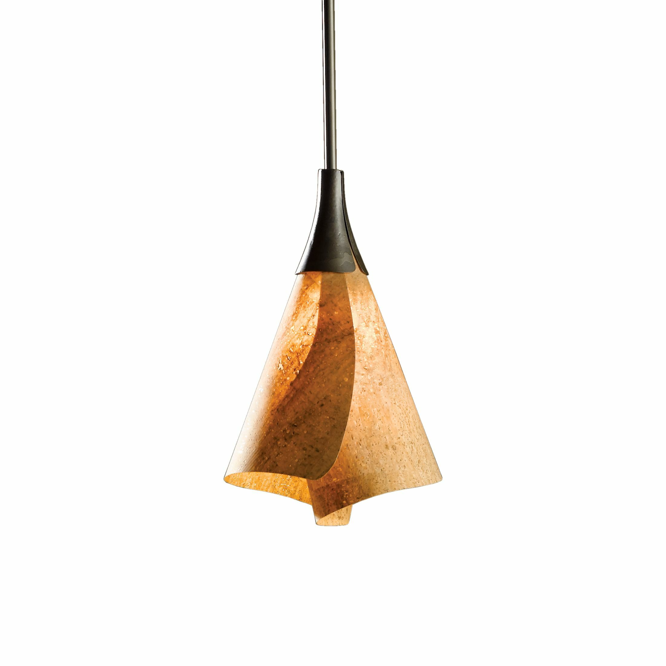 Mobius 1-Light Cone Pendant Finish: Soft Gold, Size: 42.8