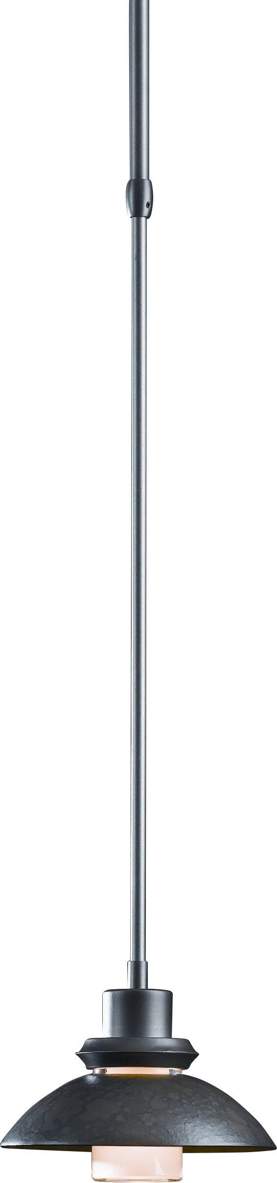 Staccato 1-Light Dome Pendant Glass: Round, Finish: Translucent Burnished Steel, Size / Stem Length: Standard / 36.5