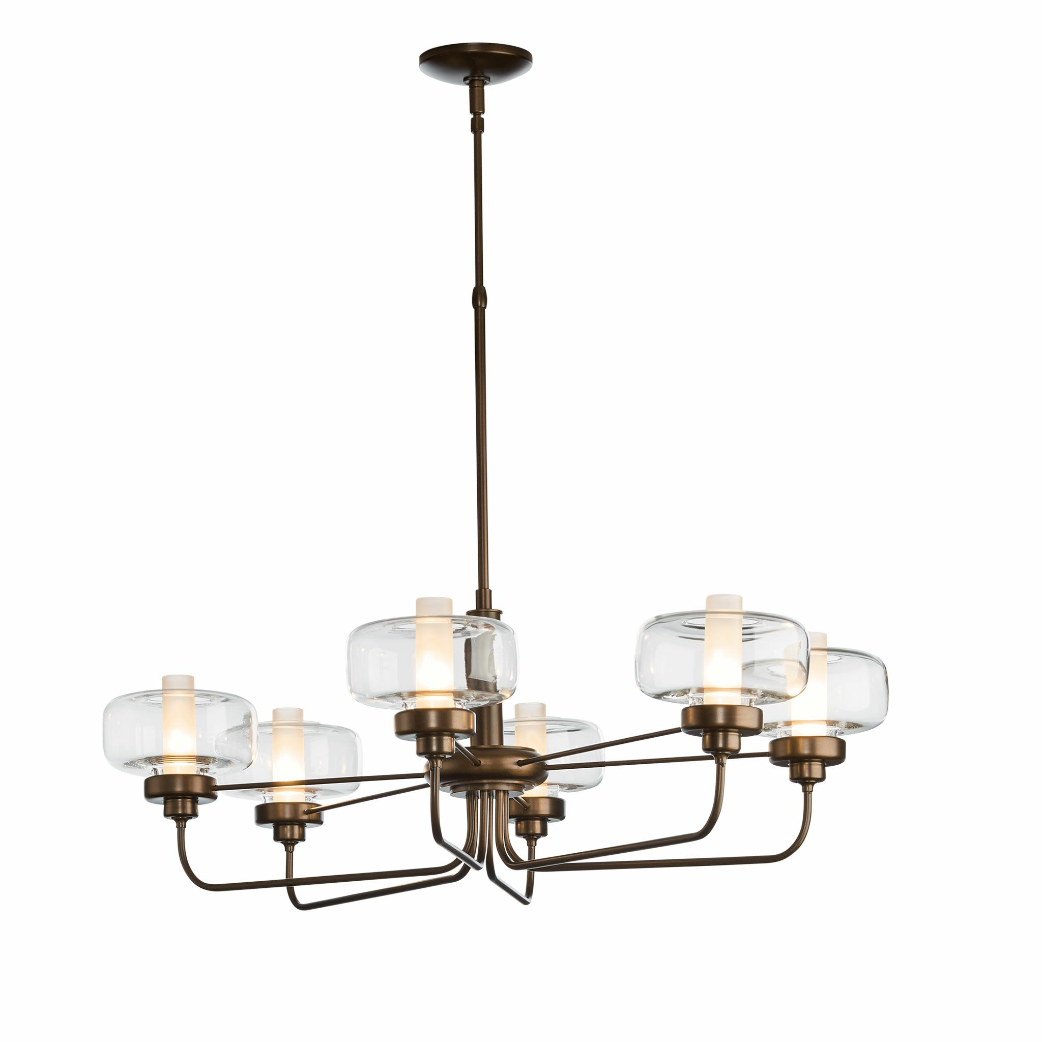New Traditional Nola 6-Light Shaded Chandelier Height: 39.8