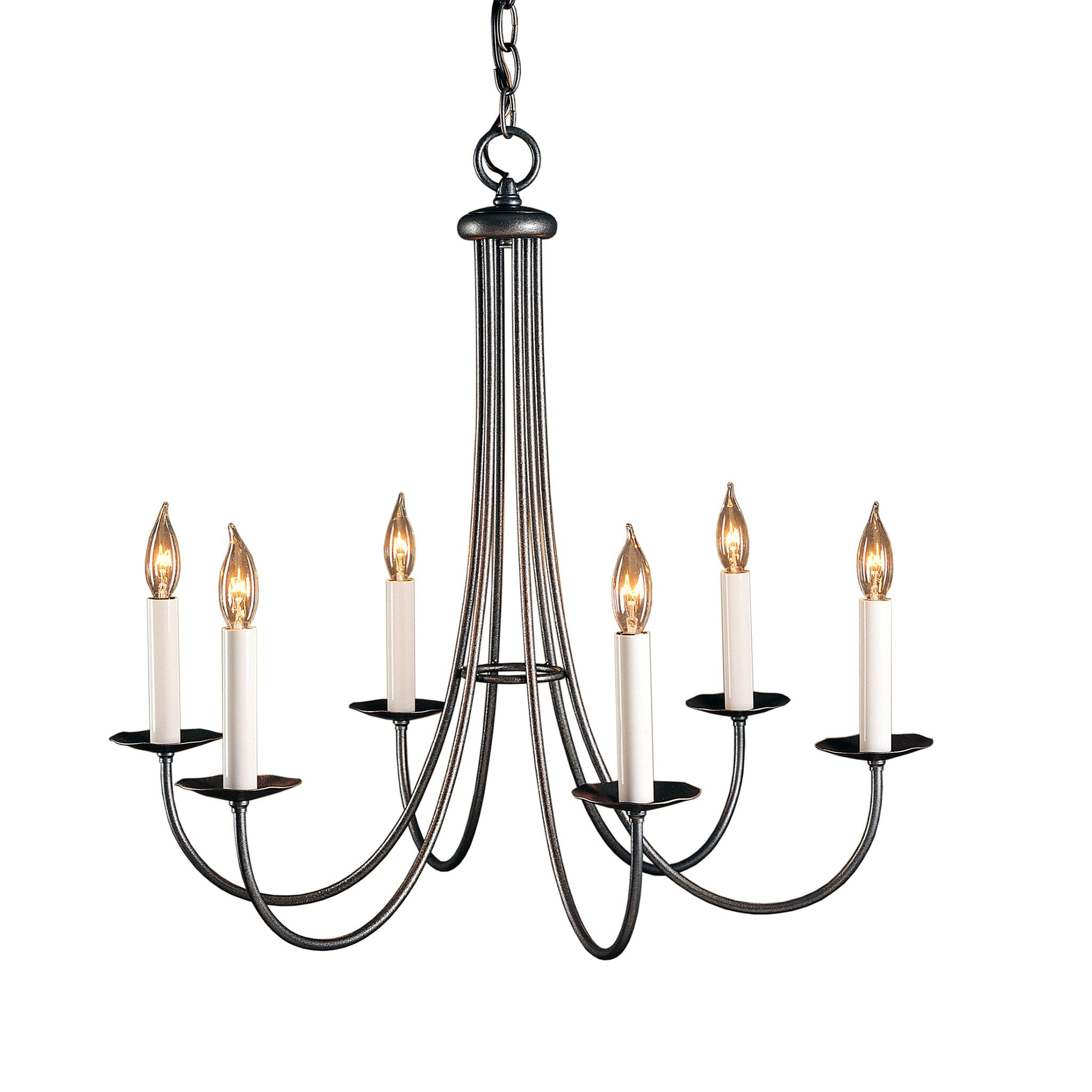 Simple Sweep 6-Light Chandelier Finish: Natural lron