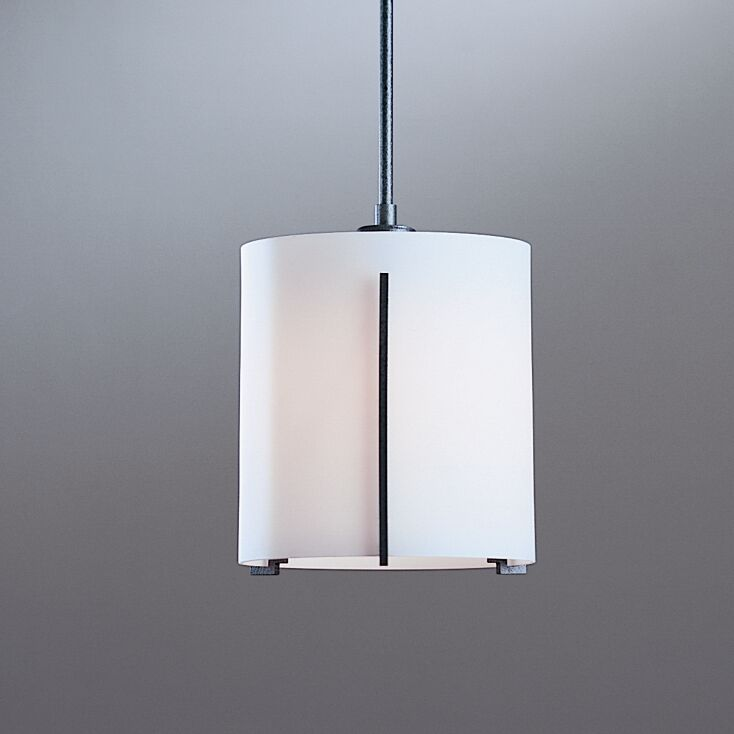 Exos 1-Light Pendant Glass: Opal, Finish: Translucent Bronze