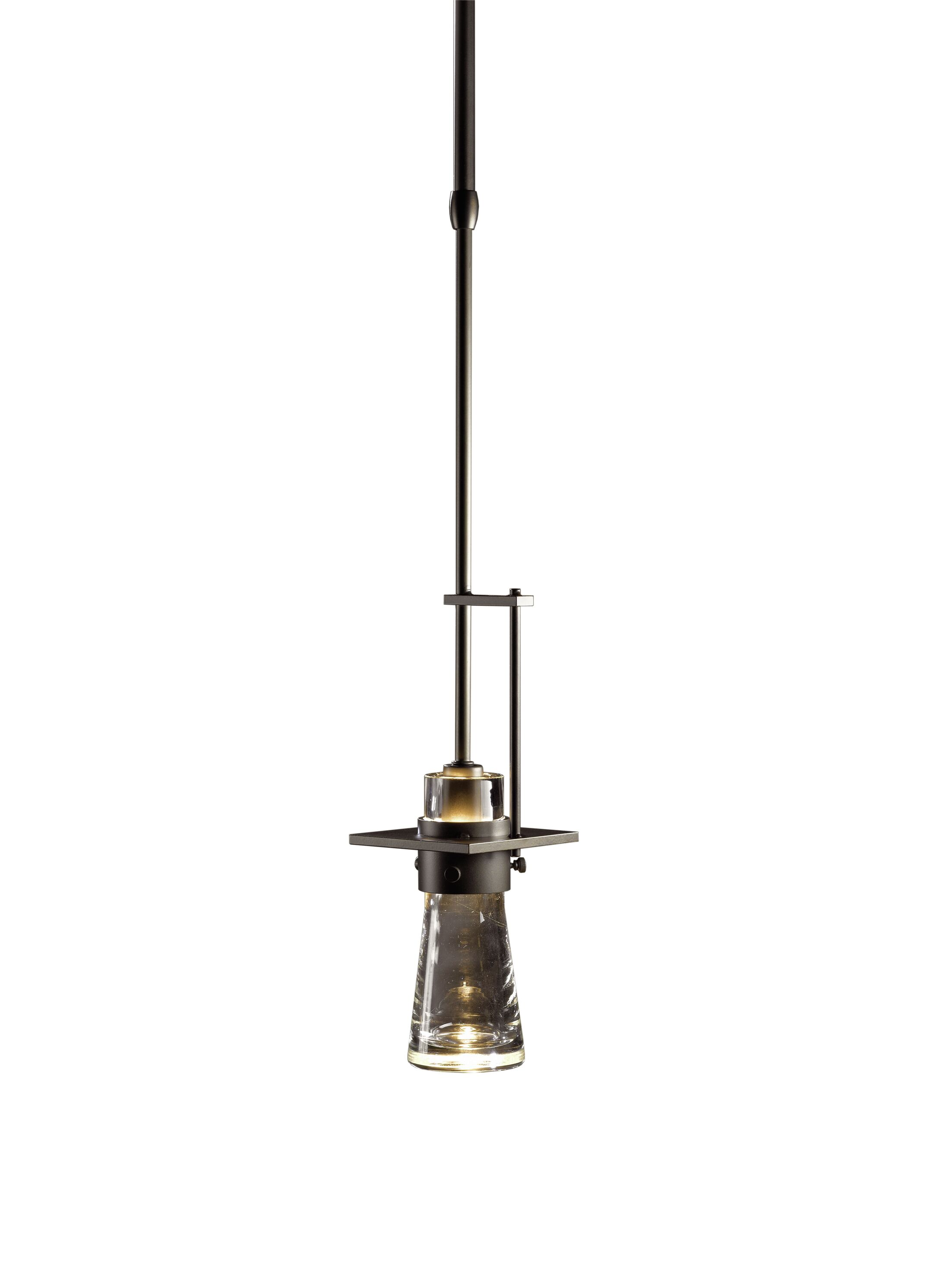 Erlenmeyer 1-Light Bulb Pendant Stem Length: 40.3