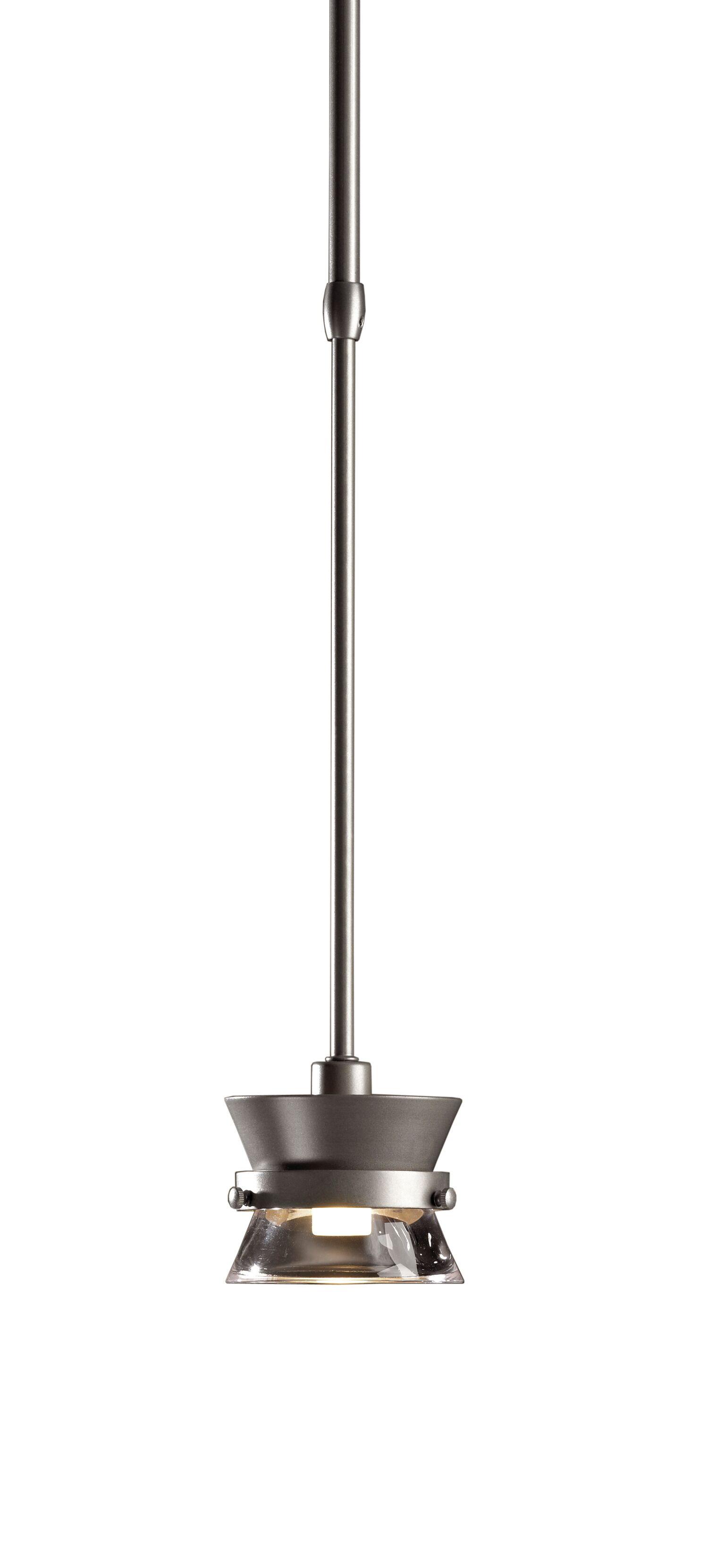 Apparatus 1-Light Drum Pendant Finish: Black, Stem Length: 25.8