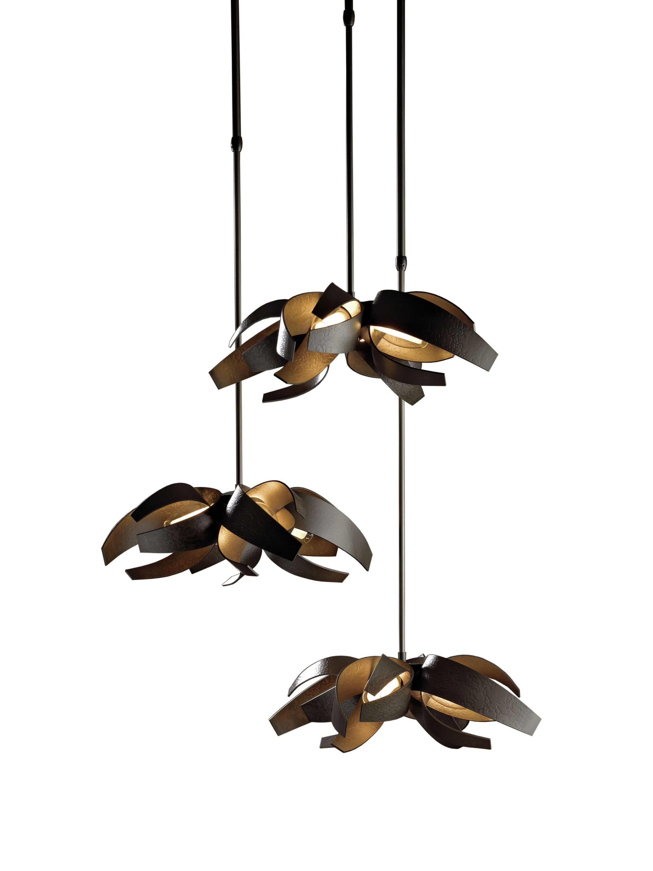 Corona 12-Light Cluster Pendant Finish: Natural Iron