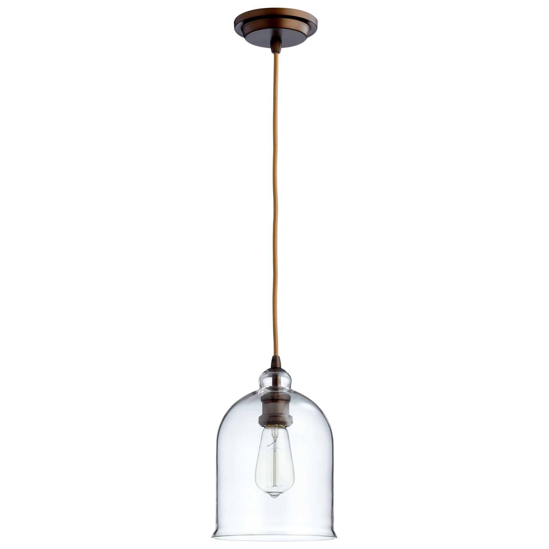 Celia 1-Light Bell Pendant Shade Color: Clear