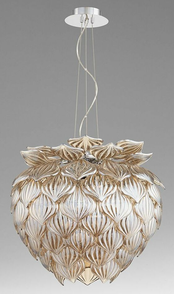 Okey Dokey 9-Light Novelty Pendant Shade Color: Cognac
