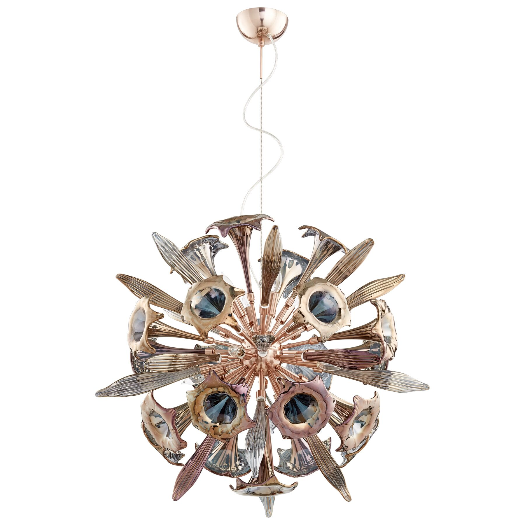 Remy 12-Light Sputnik Pendant Shade Color: Copper