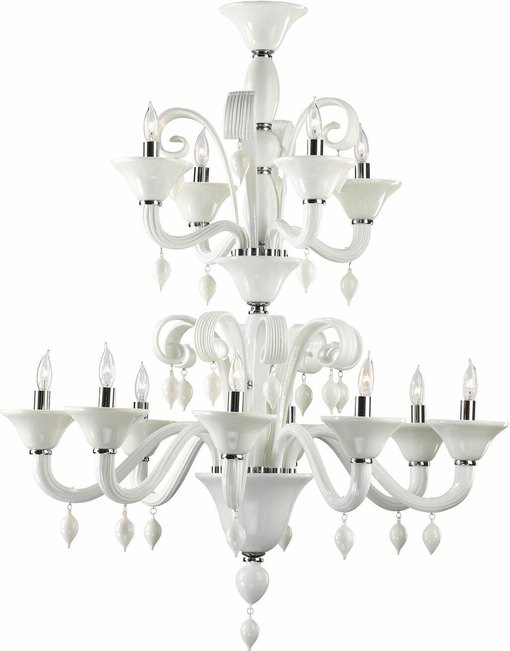 Treviso 12-Light Chandelier Color: White